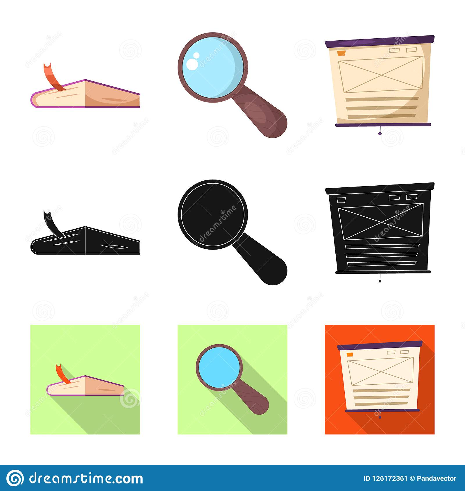 Vector Design Of Education And Learning Icon Collection Of