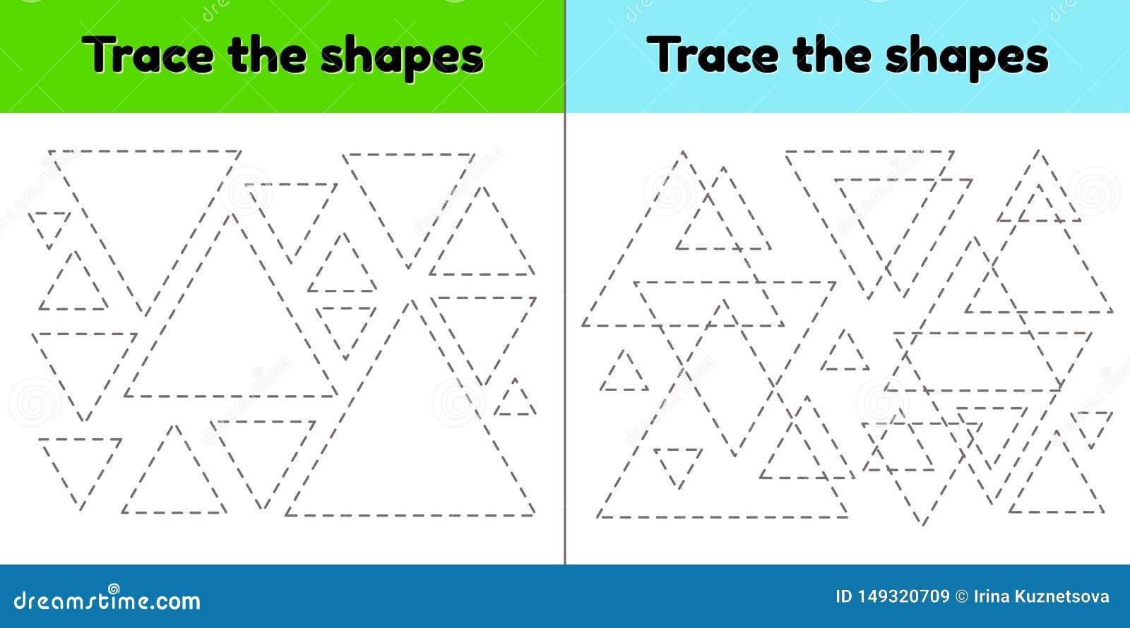 Educational Tracing Worksheet For Kids Preschool And ...