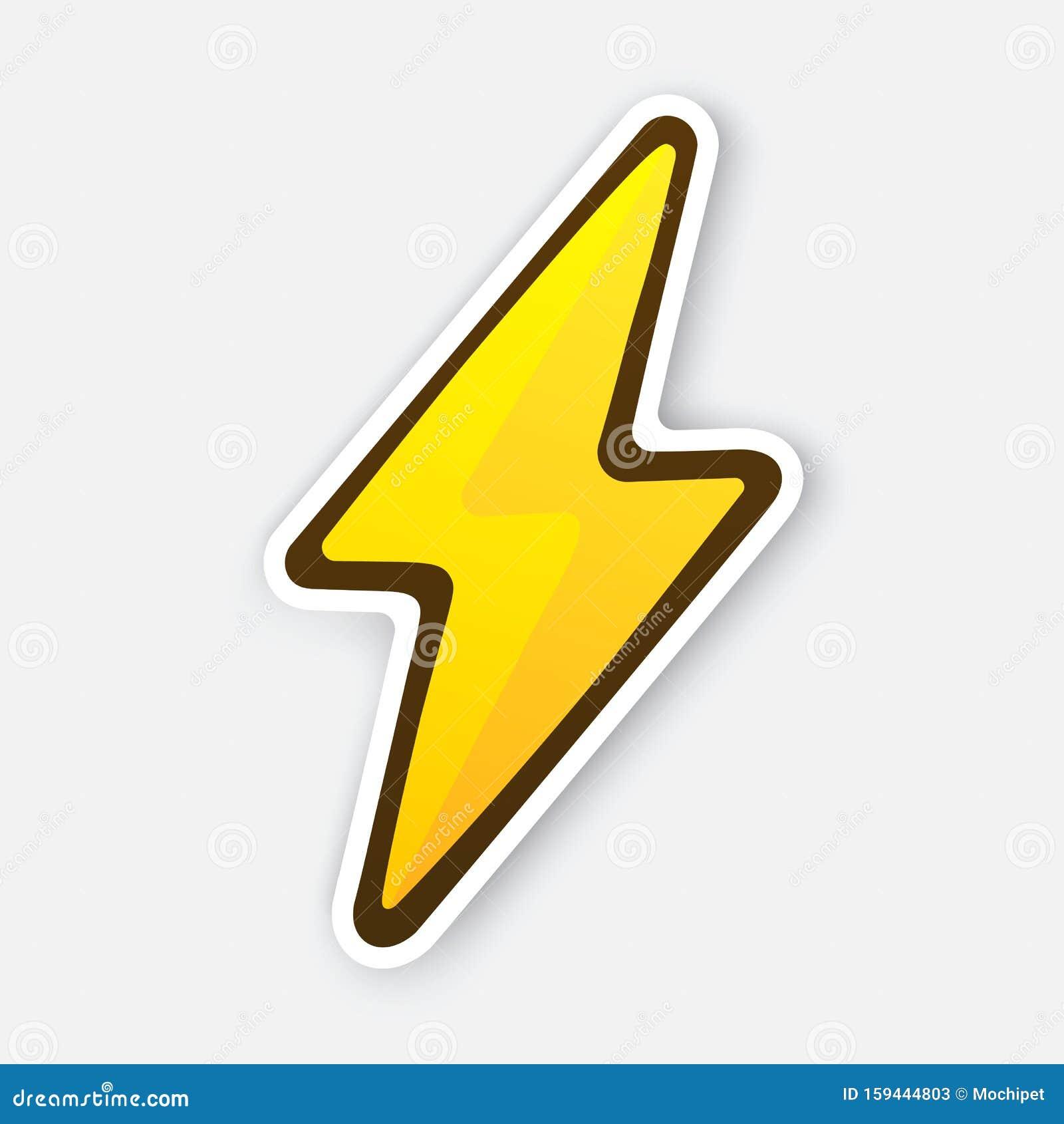 25 Vector Illustration. Electric Lightning Bolt. Thunderbolt Strike ...