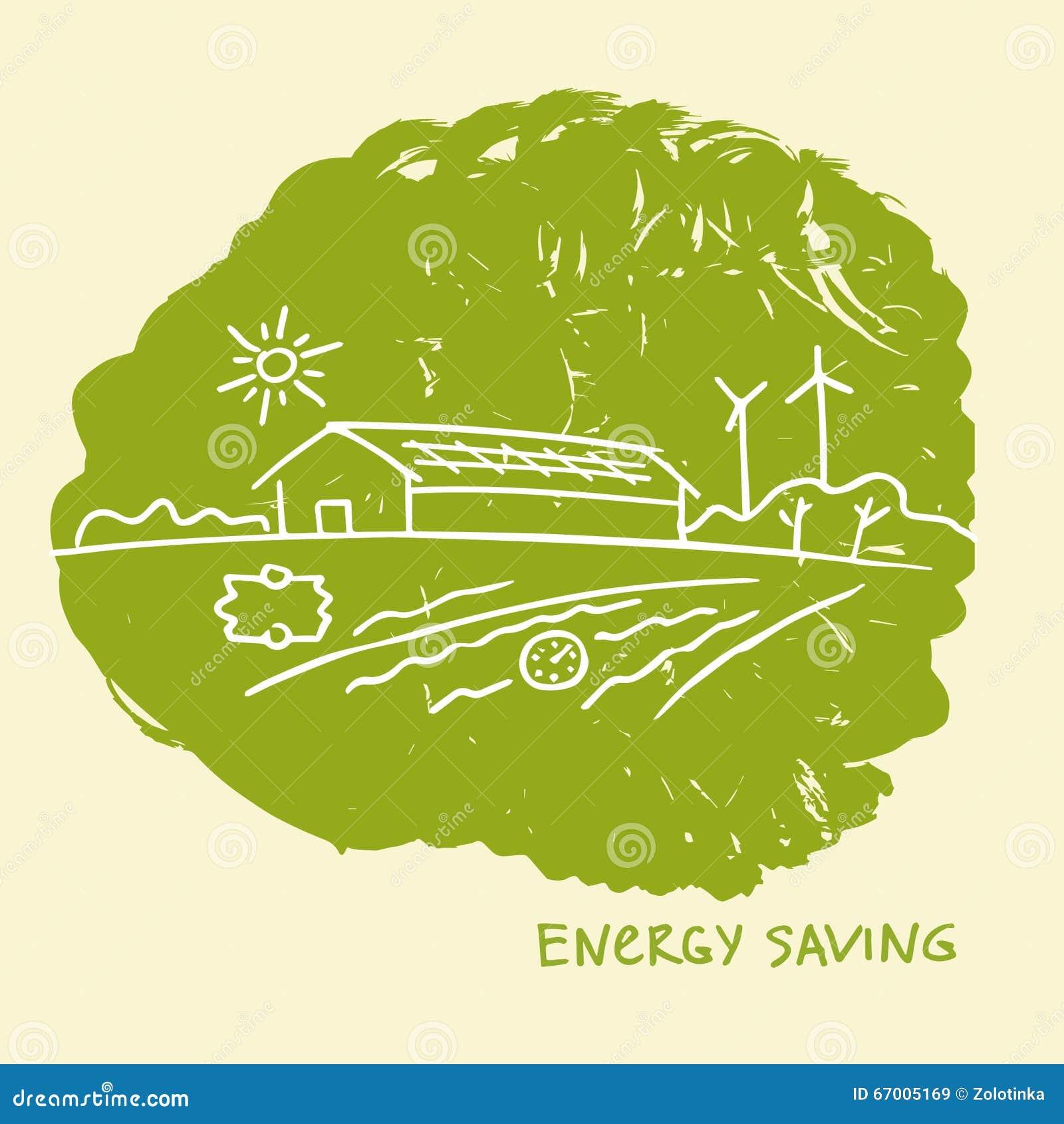 Eco Friendly Construction Vector Illustration Energy Efficient Constructionenergy Saving