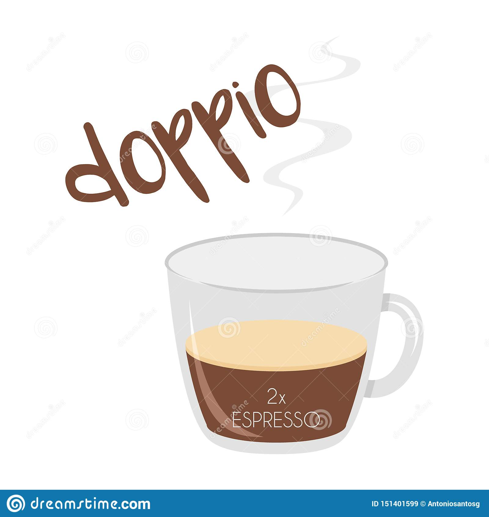 Vector Illustration Of An Espresso Doppio Coffee Cup Icon