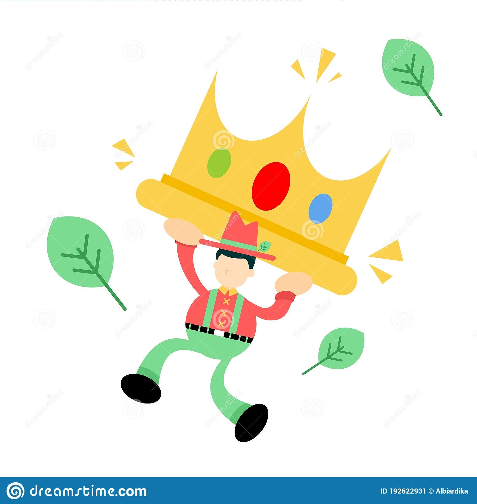 Vector Illustration Farmer And Big Size King Crown Flat Design Cartoon Style Stock Vector Illustration Of Isolated Jewel 192622931 Cartoon crown smiley illustrations & vectors. vector illustration farmer and big size king crown flat design cartoon style stock vector illustration of isolated jewel 192622931