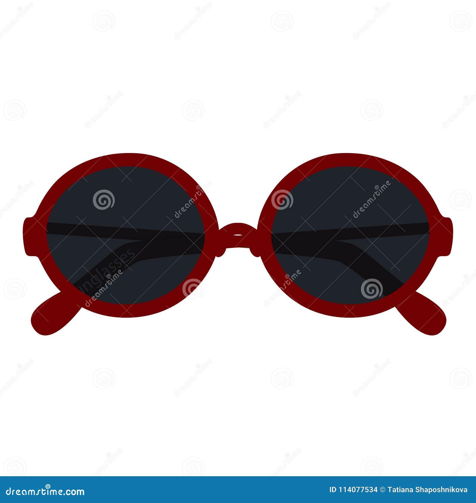 On Fashion Isolated White Round Sunglasses Stock Background thrQsdxC