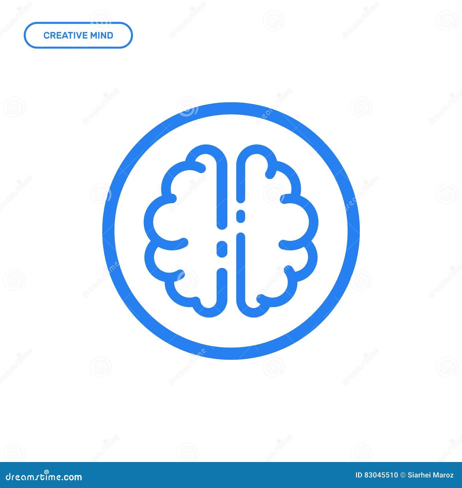Vector illustration of flat line brain icon graphic design concept vector illustration of flat line brain icon graphic design concept of creative mind biocorpaavc Images