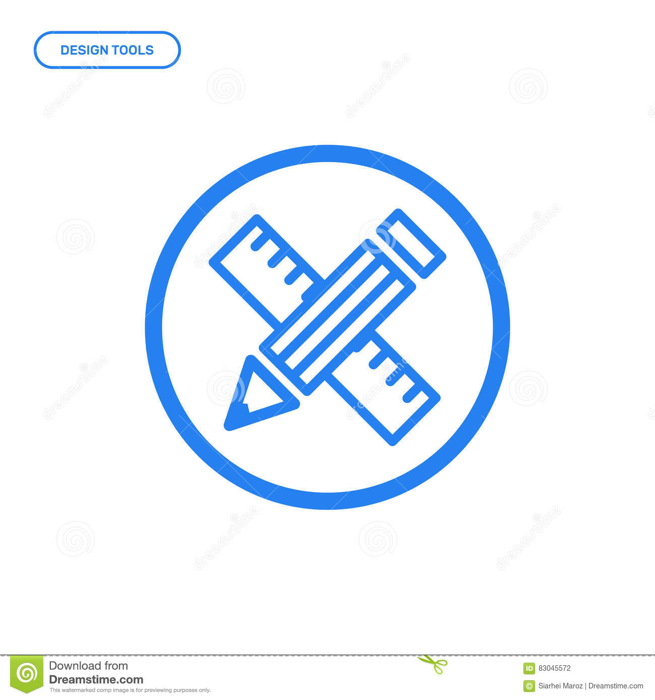 Line Art Using Pen Tool : Vector illustration of flat line pen tool icon graphic