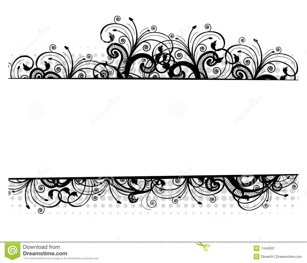 Royalty Free Stock Photography  Vector illustration of a floral borderVector Floral Border