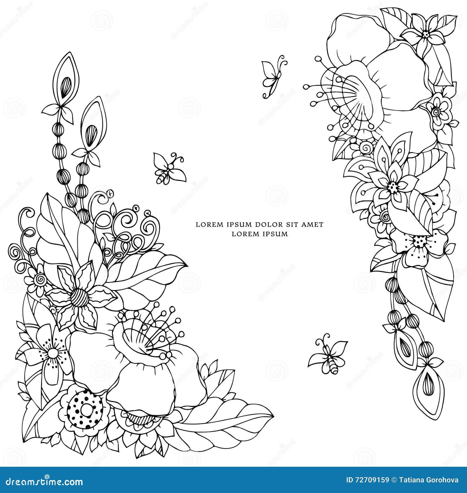 Zen colouring in book - Free Zen Coloring Book Vector Illustration Of Floral Frame Zen Tangle Dudlart Coloring Book Anti