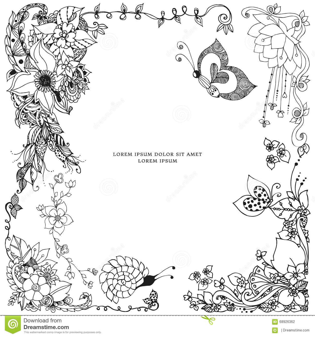 Border Fram Beautiful Coloring Pages For Adults Border