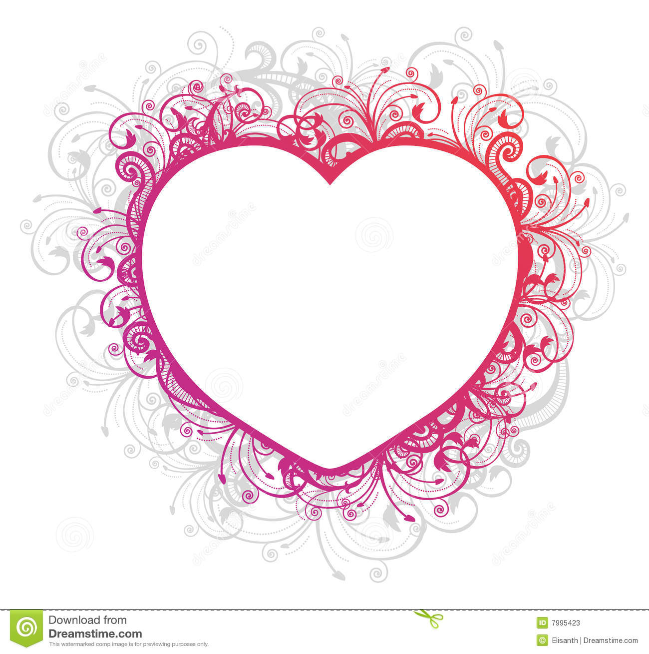 vector illustration of floral heart frame stock photos image
