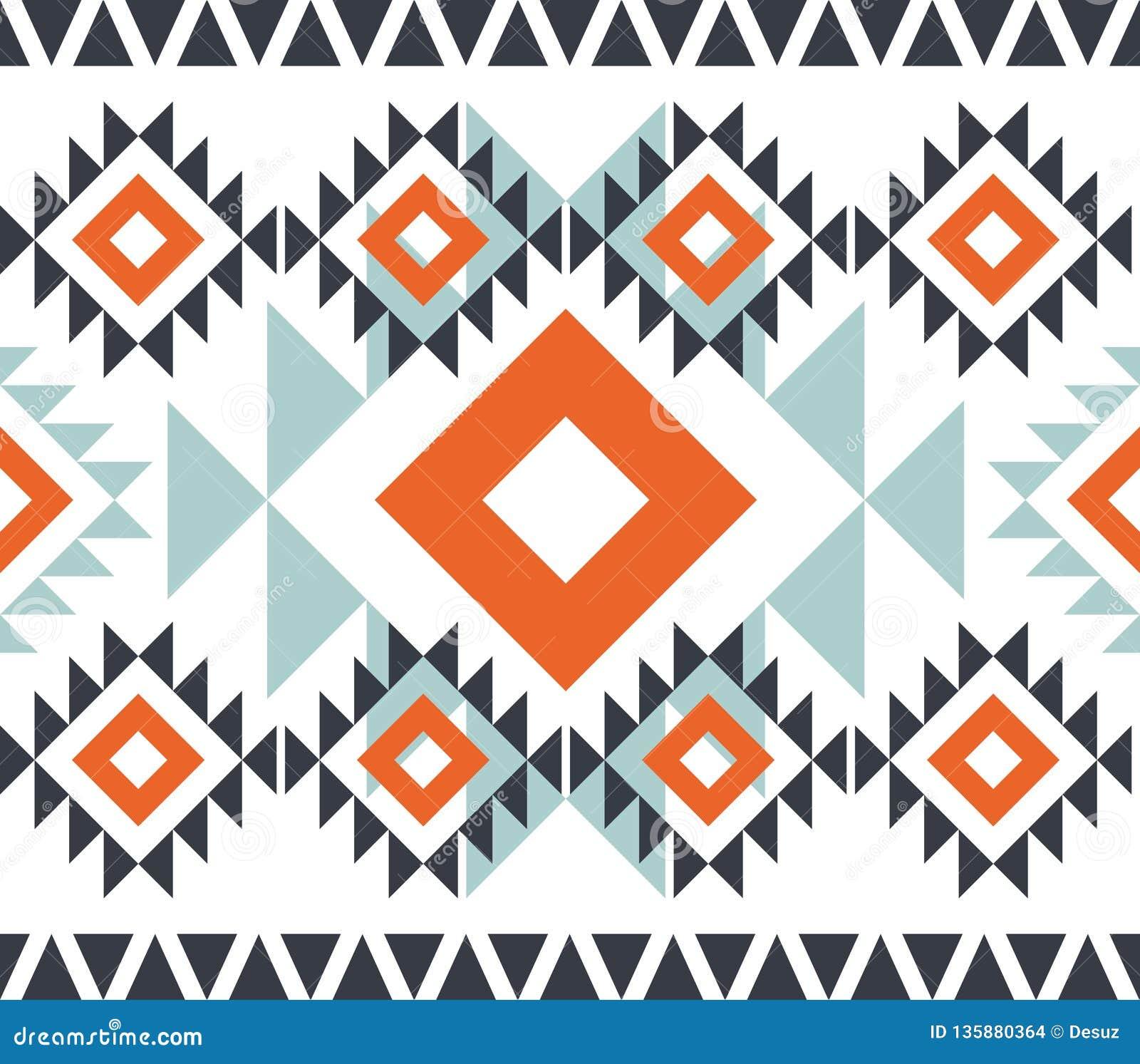 American pattern. Geometric seamless ornament.