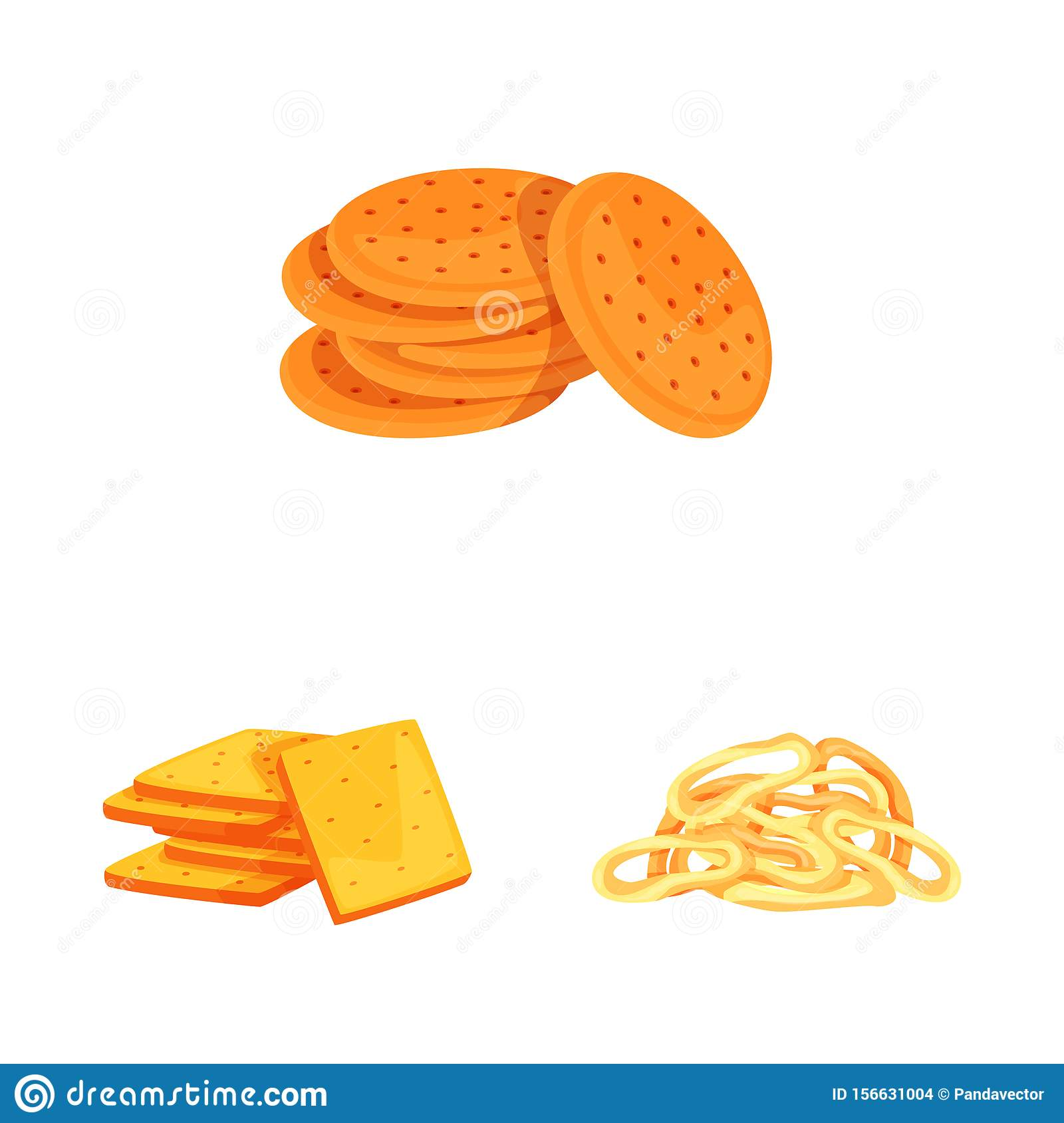 Vector illustration of food and crunchy symbol. Collection of food and flavor vector icon for stock.
