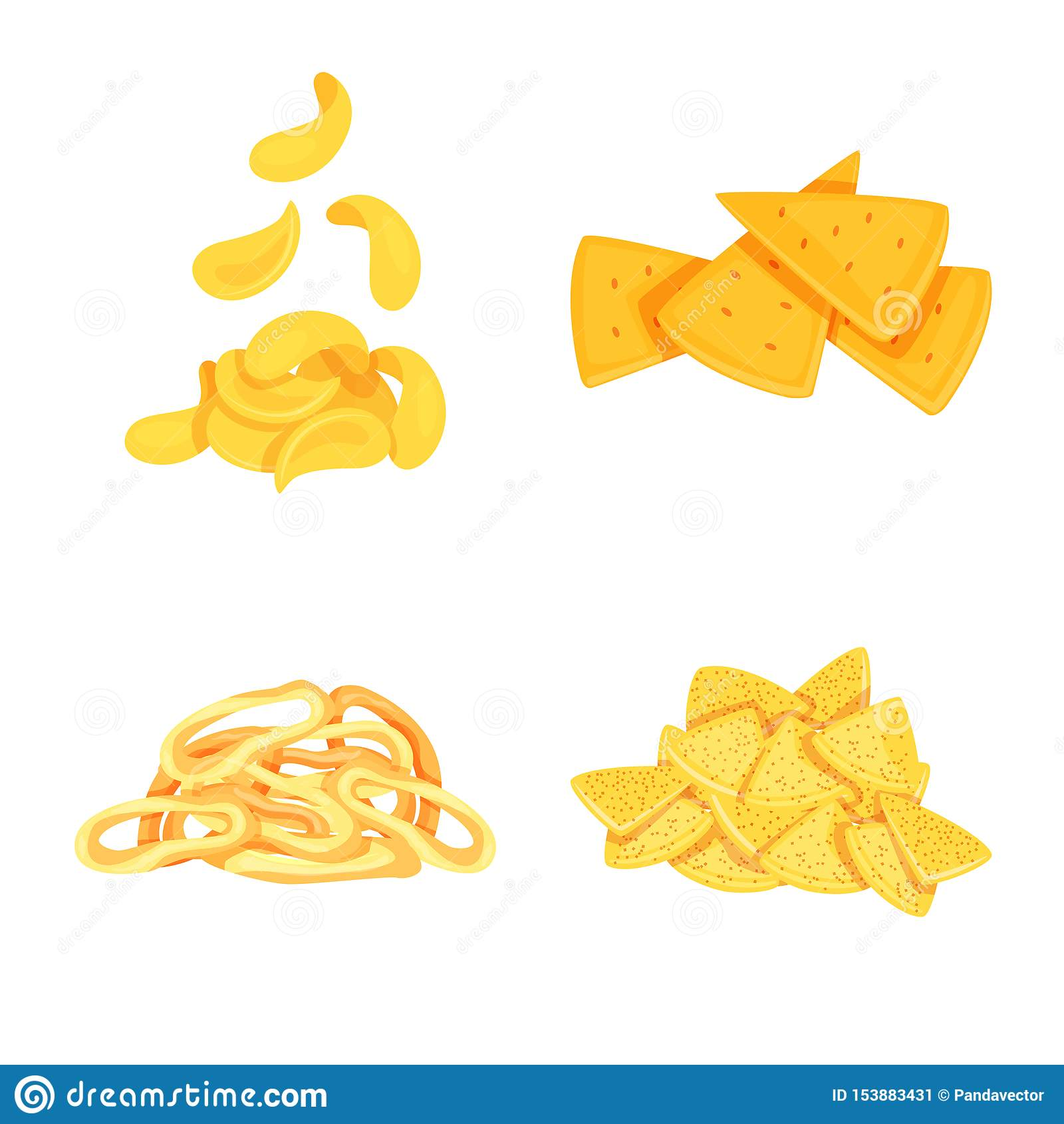 Vector illustration of food and crunchy symbol. Set of food and flavor stock symbol for web.