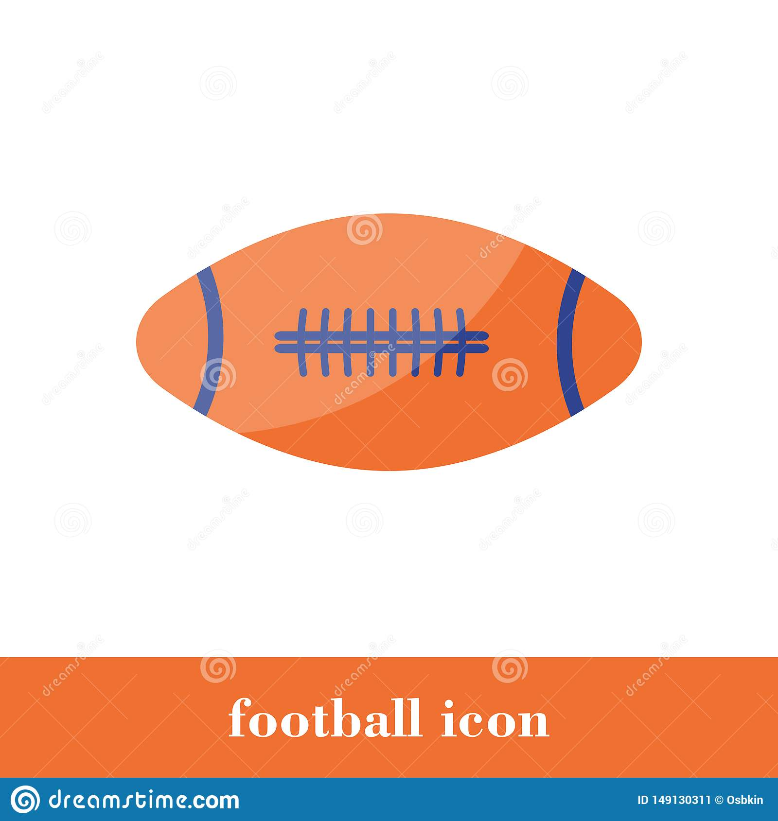 Football icon. Flat style. Ball