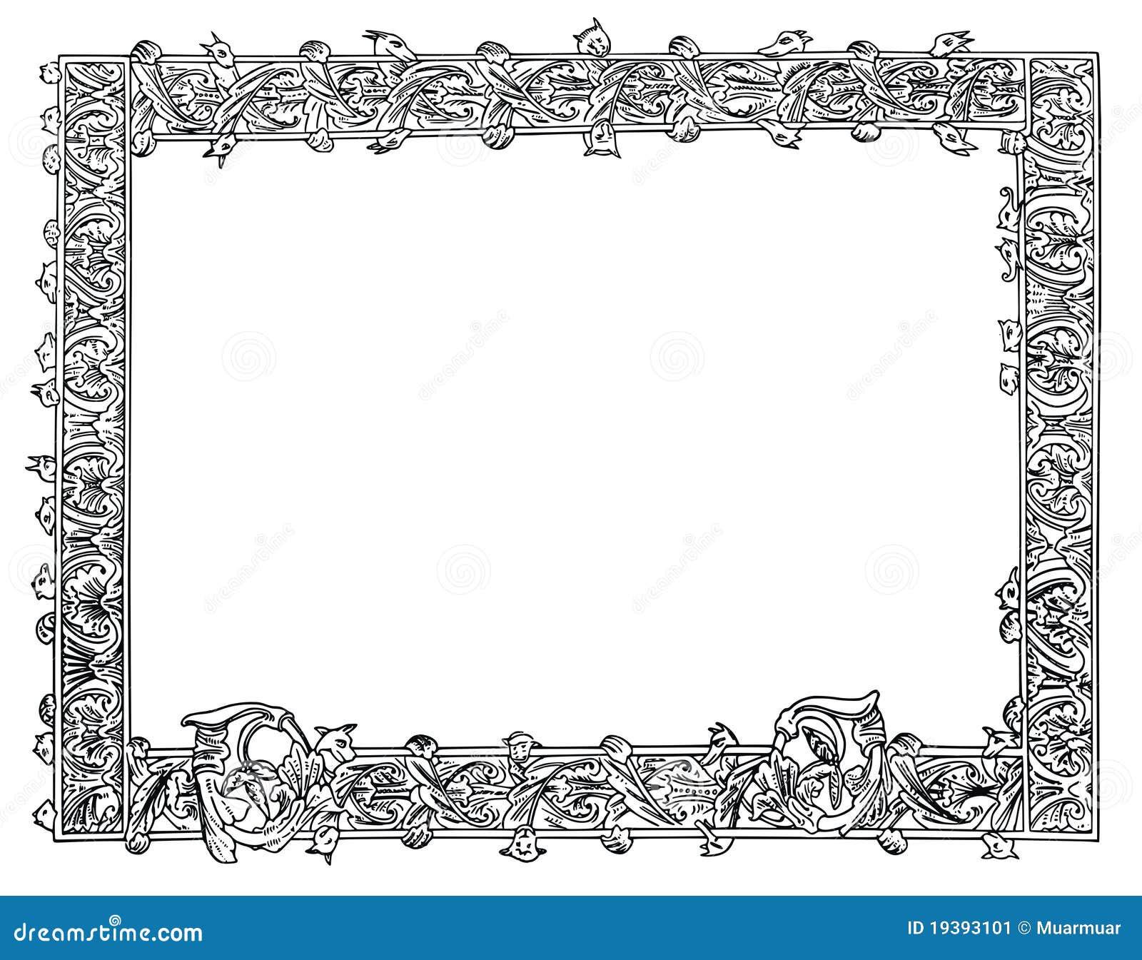 vector illustration frame ornament stock vector image
