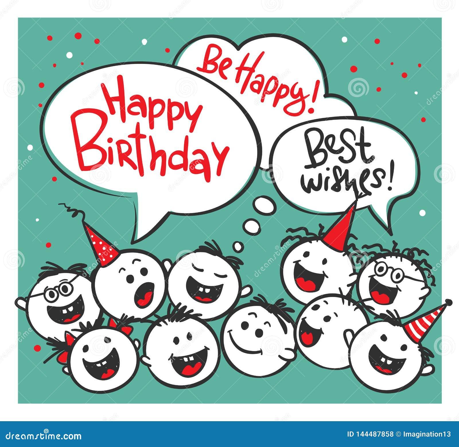 Happy Birthday Stock Vector Illustration Of Birthday 144487858