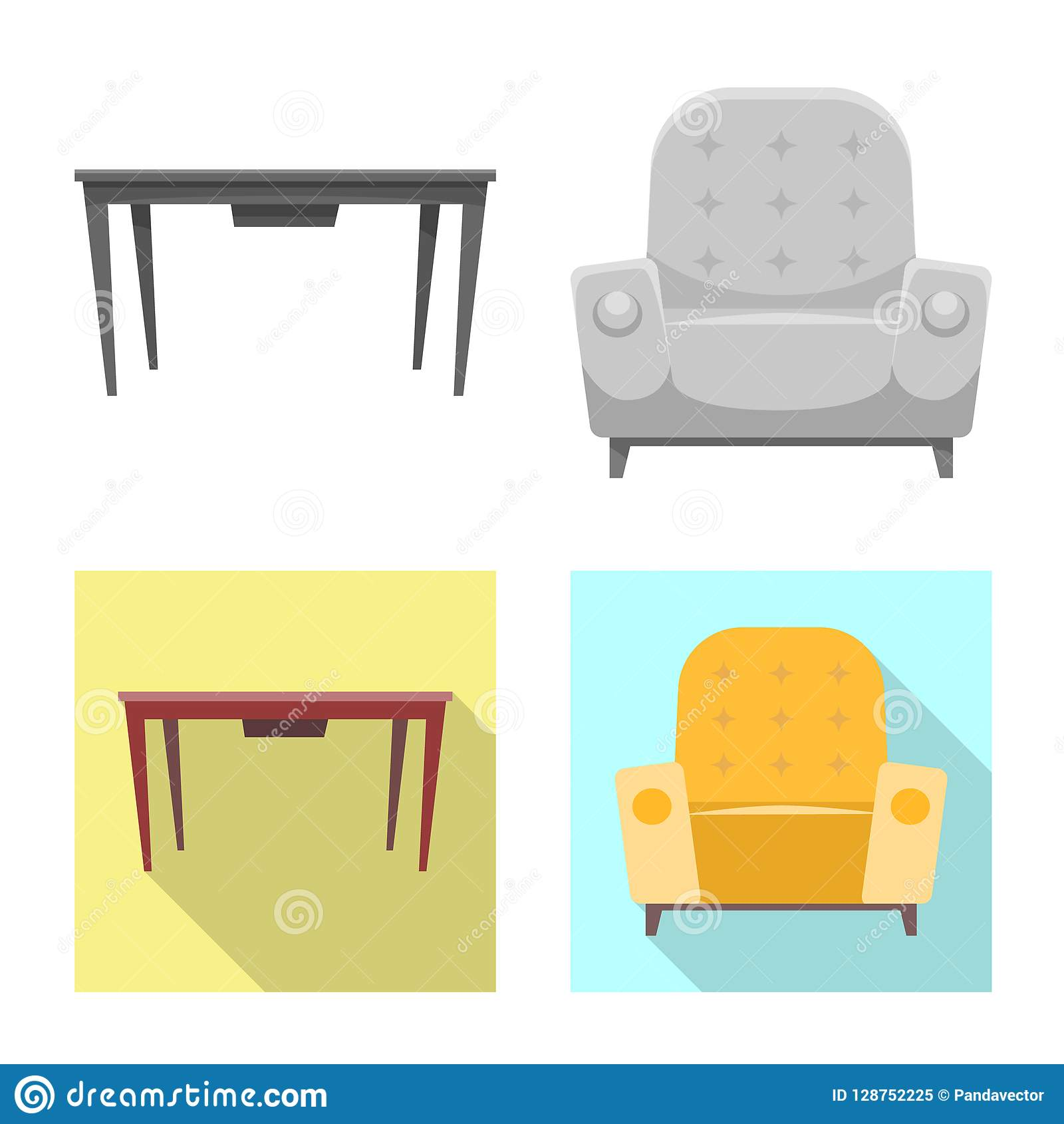 Awe Inspiring Vector Design Of Furniture And Apartment Icon Set Of Cjindustries Chair Design For Home Cjindustriesco