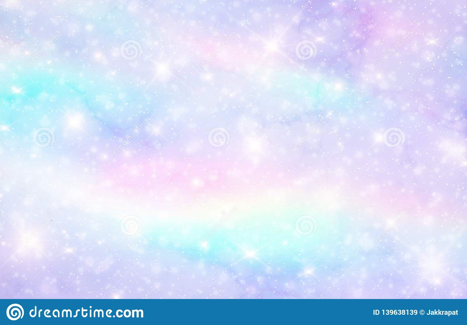 Vector Illustration Of Galaxy Fantasy Background And ...