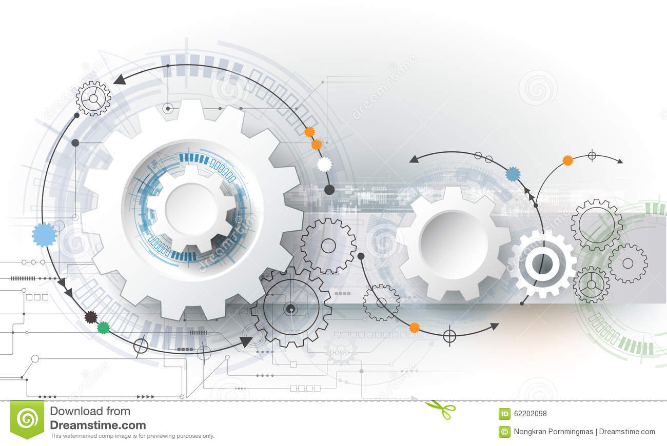 Download Vector Illustration Gear Wheel, Hexagons And Circuit Board, Hi-tech Digital Technology And Engineering Stock Vector - Illustration of connection, abstract: 62202098
