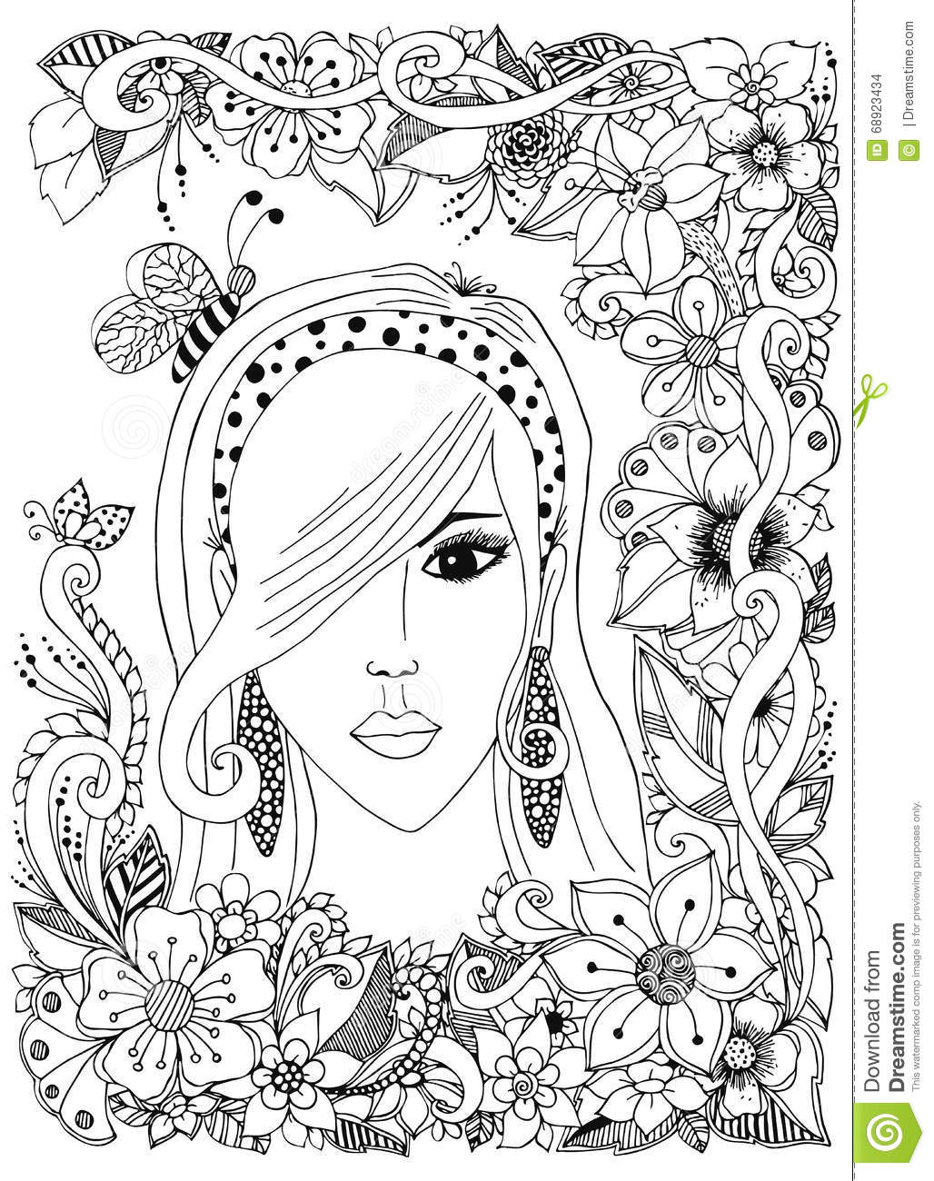 vector set of hair care ingredients  organic hand drawn colored elements green olive wreath