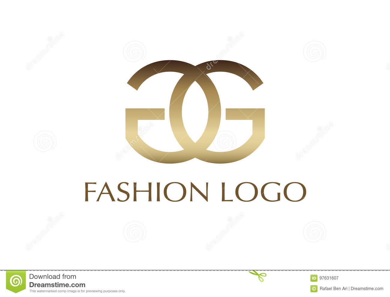 Vector Illustration Gold Fashion Logo Design Stock Vector Illustration Of Identity Illustration 97631607