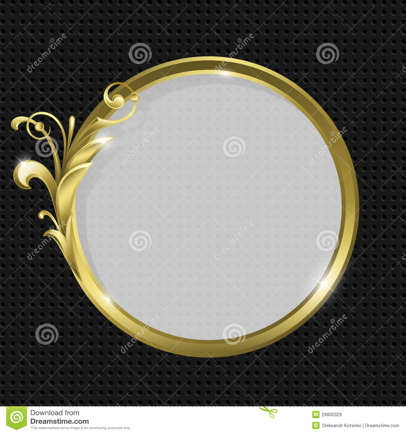 Gold Round Frame Stock Vector Image Of Retro Fashioned