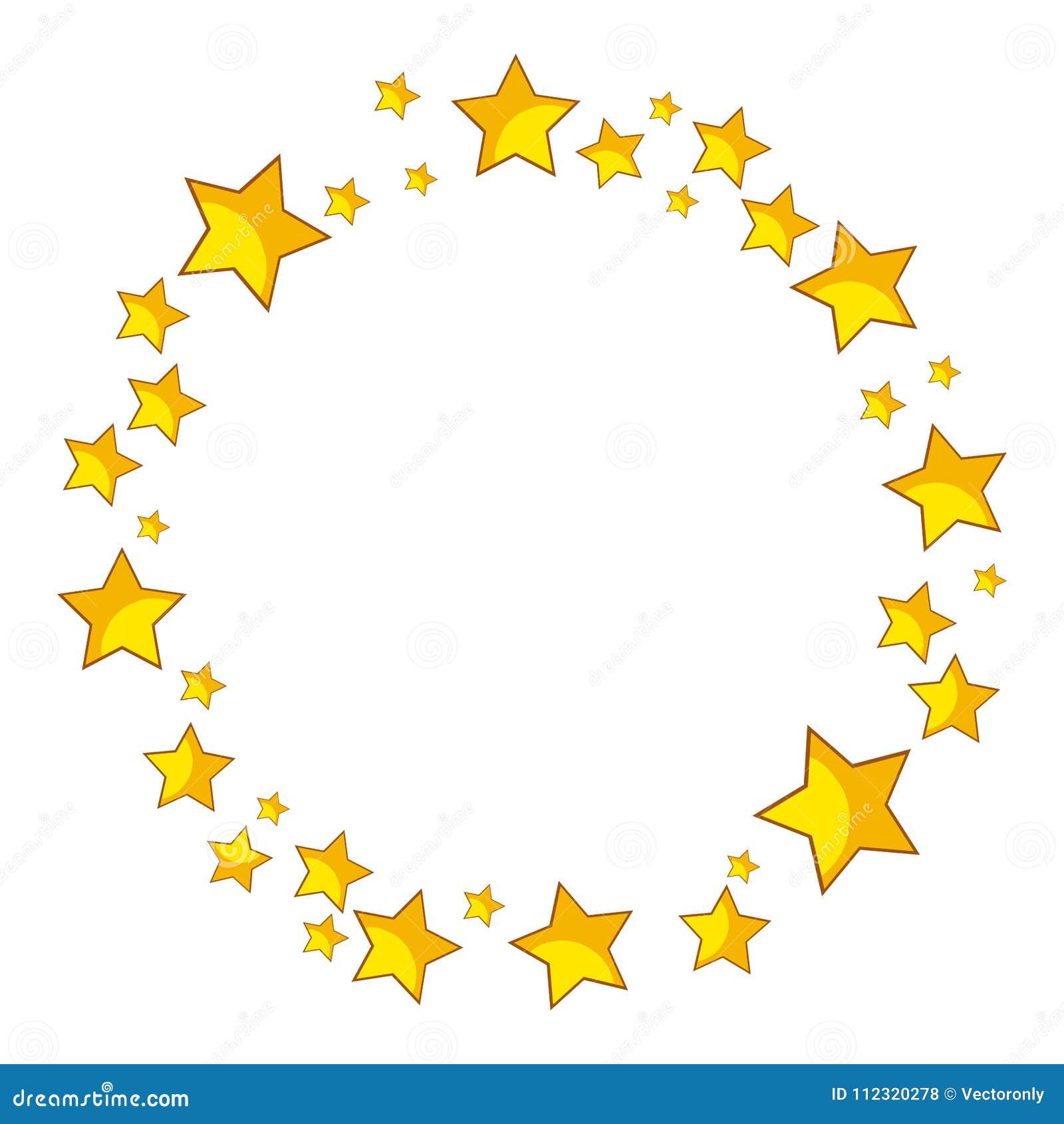 3f5cb90ac295 Golden Stars Round Border Vector Stock Vector - Illustration of gold ...