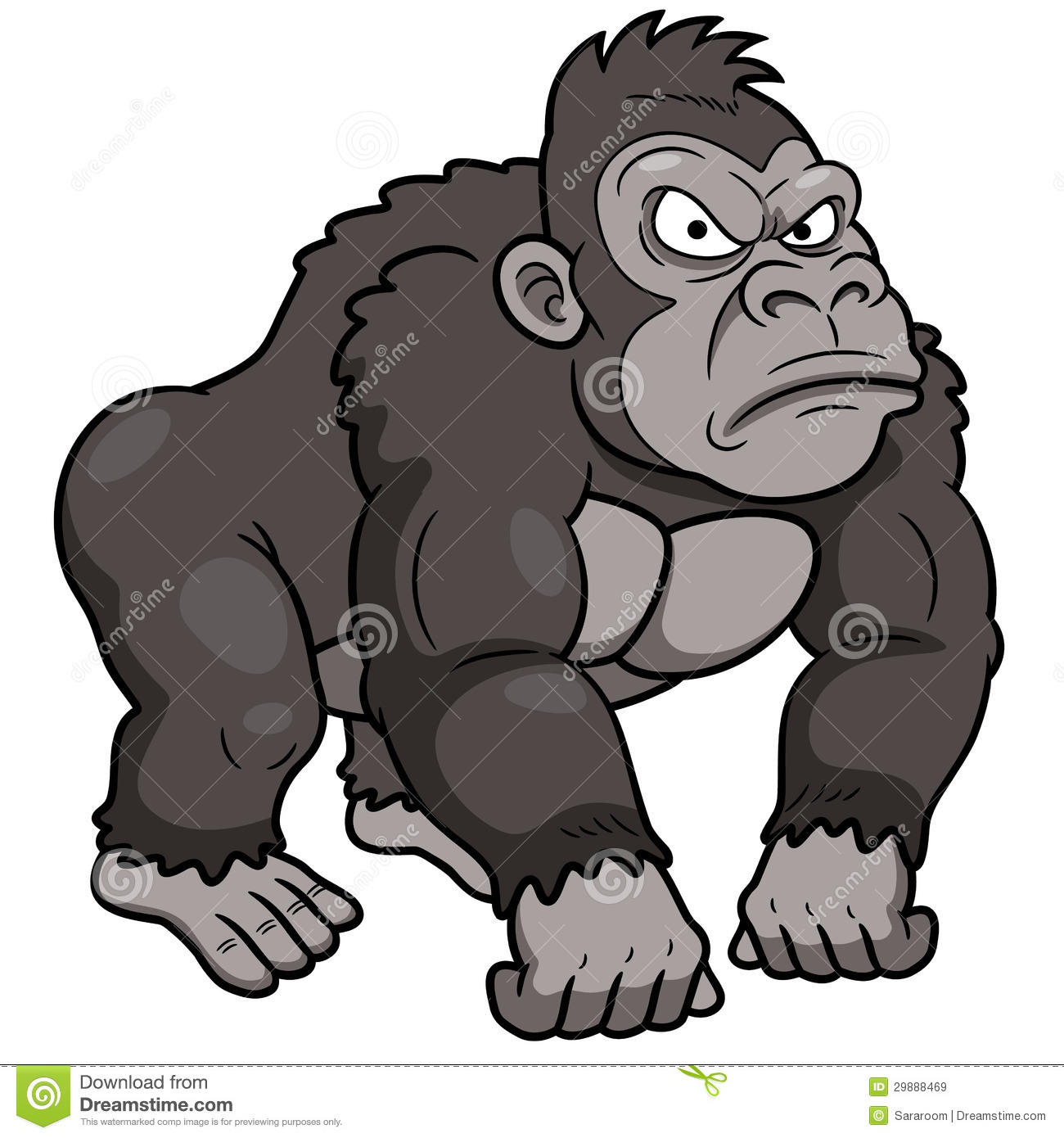 cartoon gorilla royalty free stock images image 29888469 Snow Shoveling Cartoon Snow Blower