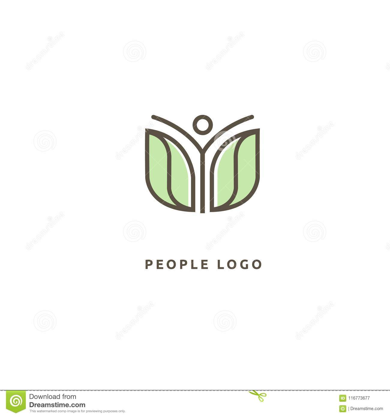 new concept 3d72b bbf78 Abstract Nature Logo Icon Design. Healthy Food, Ecology, Spa ...