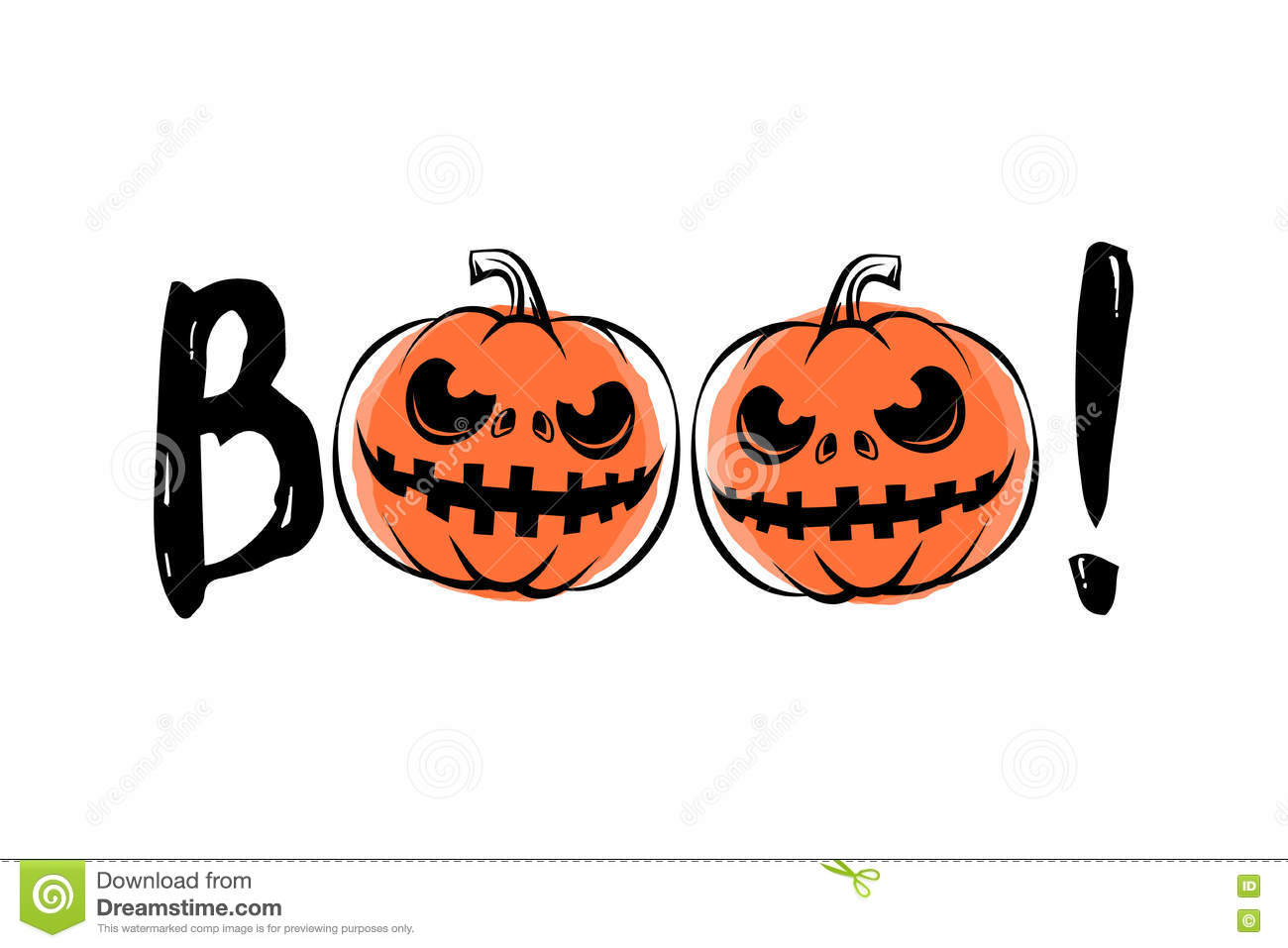 Vector Illustration Of Halloween Sound Boo Stock Vector