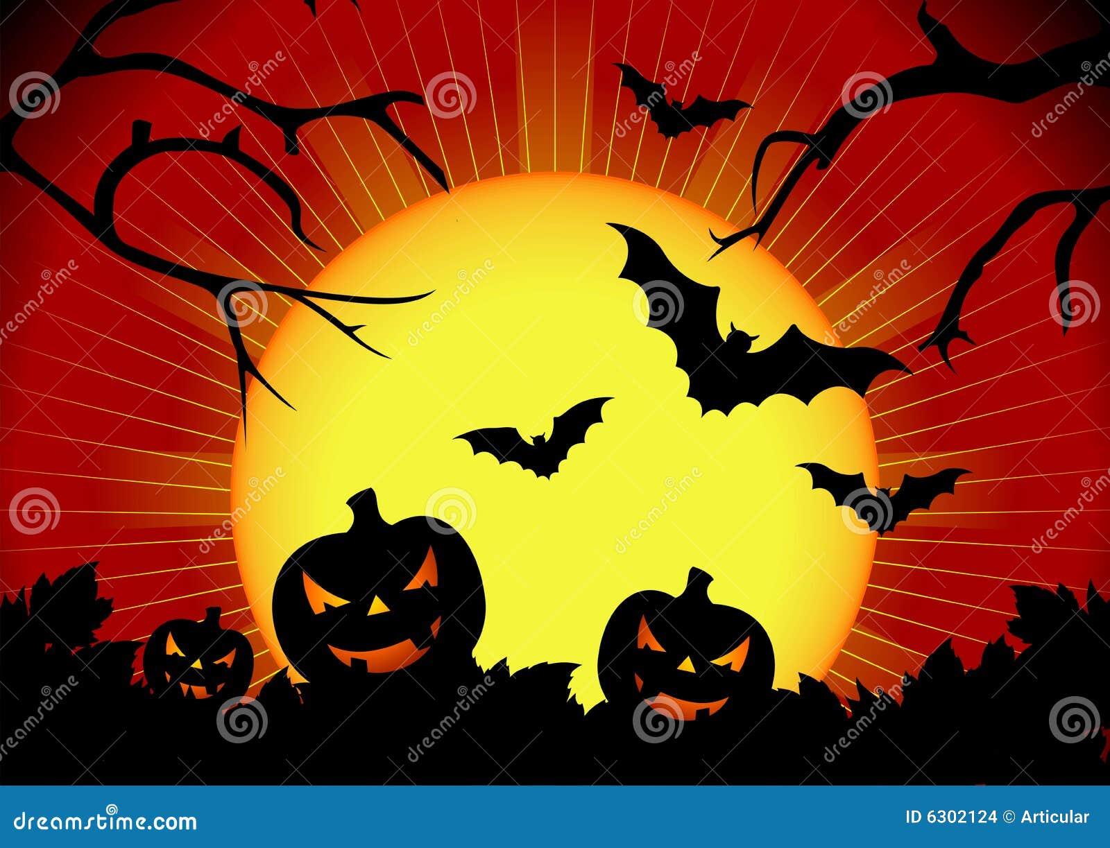 vector illustration on a halloween theme stock vector illustration