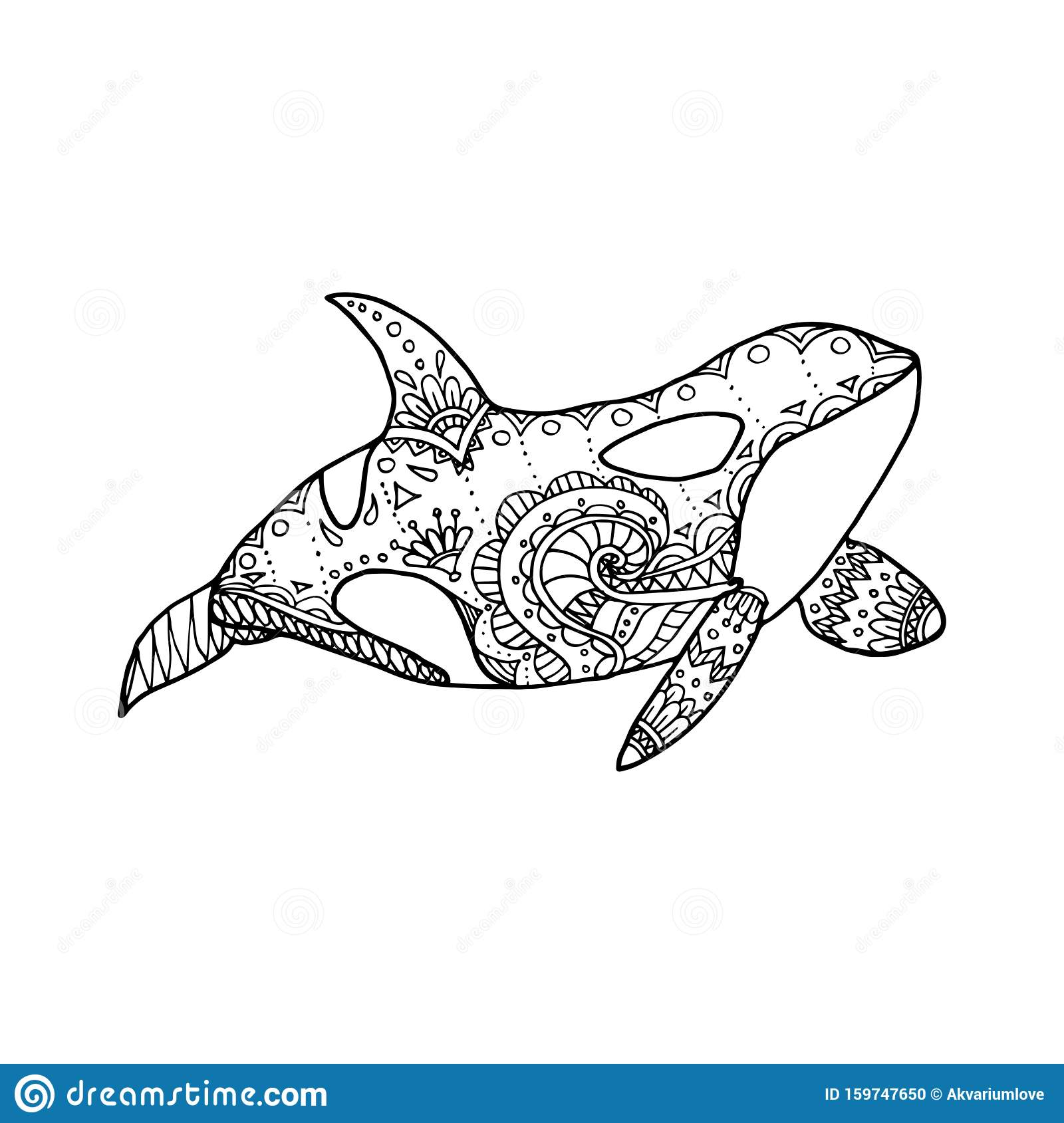 Cute Killer Whale is Jumping Out Of Water coloring page | Free ... | 1689x1600