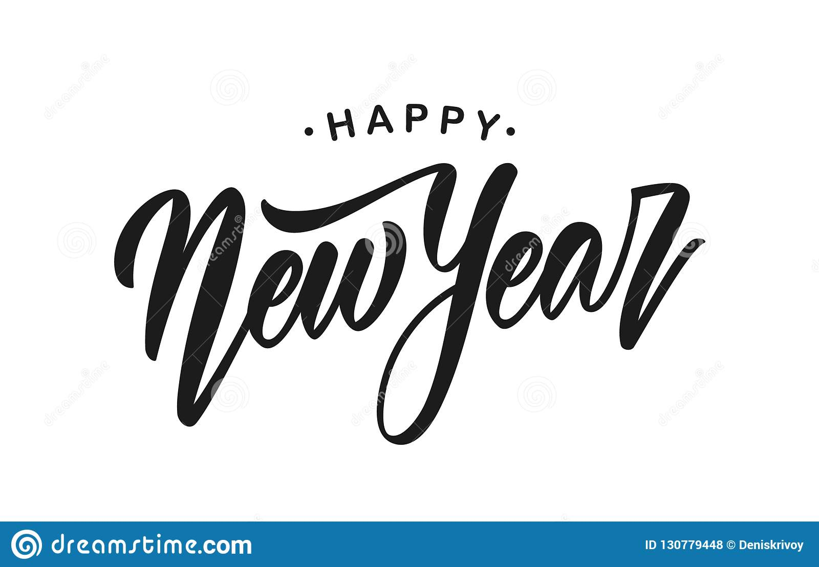 happy new year message stock illustrations 45 037 happy new year message stock illustrations vectors clipart dreamstime https www dreamstime com vector illustration handwritten modern brush lettering happy new year isolated white background vector illustration image130779448