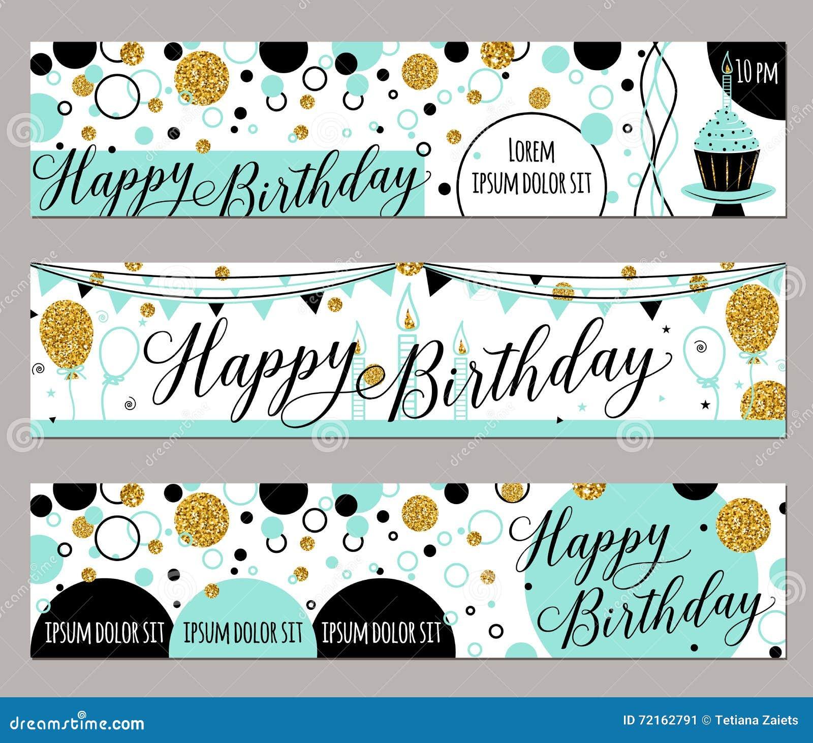 Vector Illustration Of Happy Birthday Cards Fashion Background – Fashion Birthday Cards