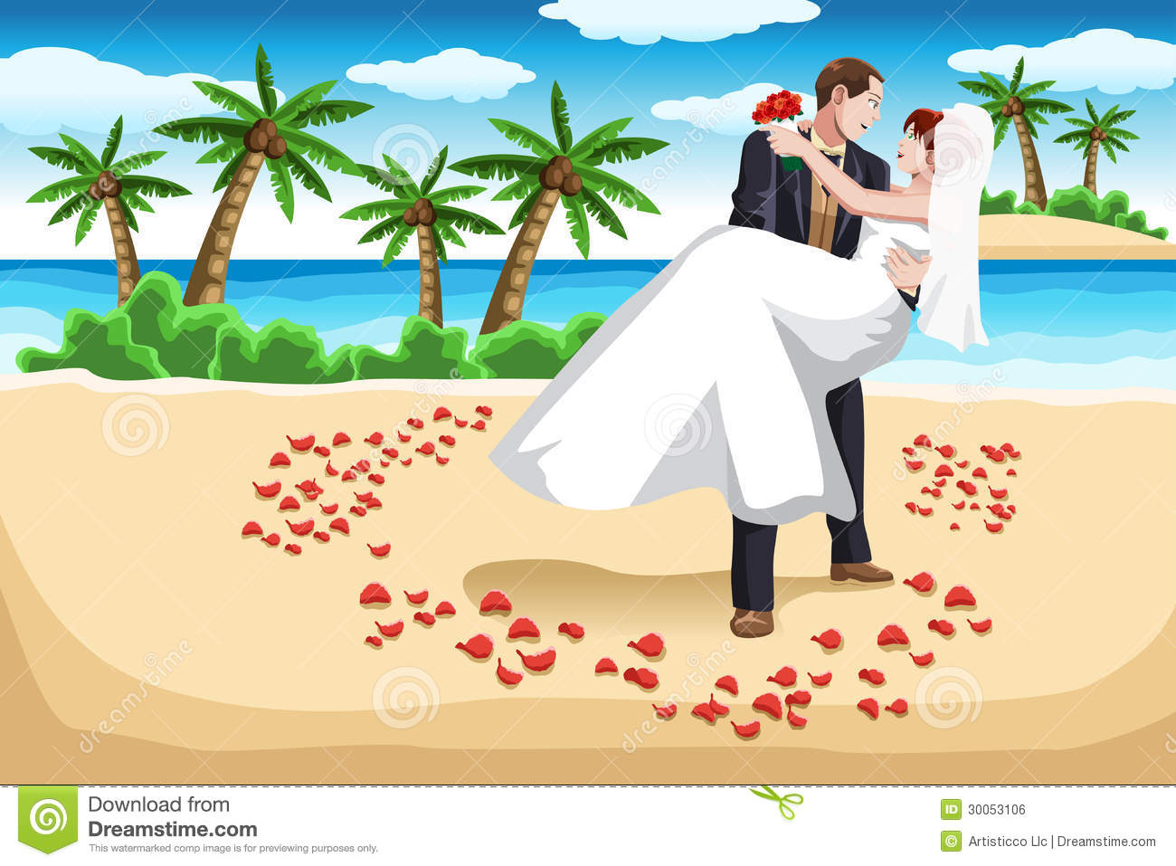 Beach Wedding Stock Illustrations 4280 Vectors Clipart