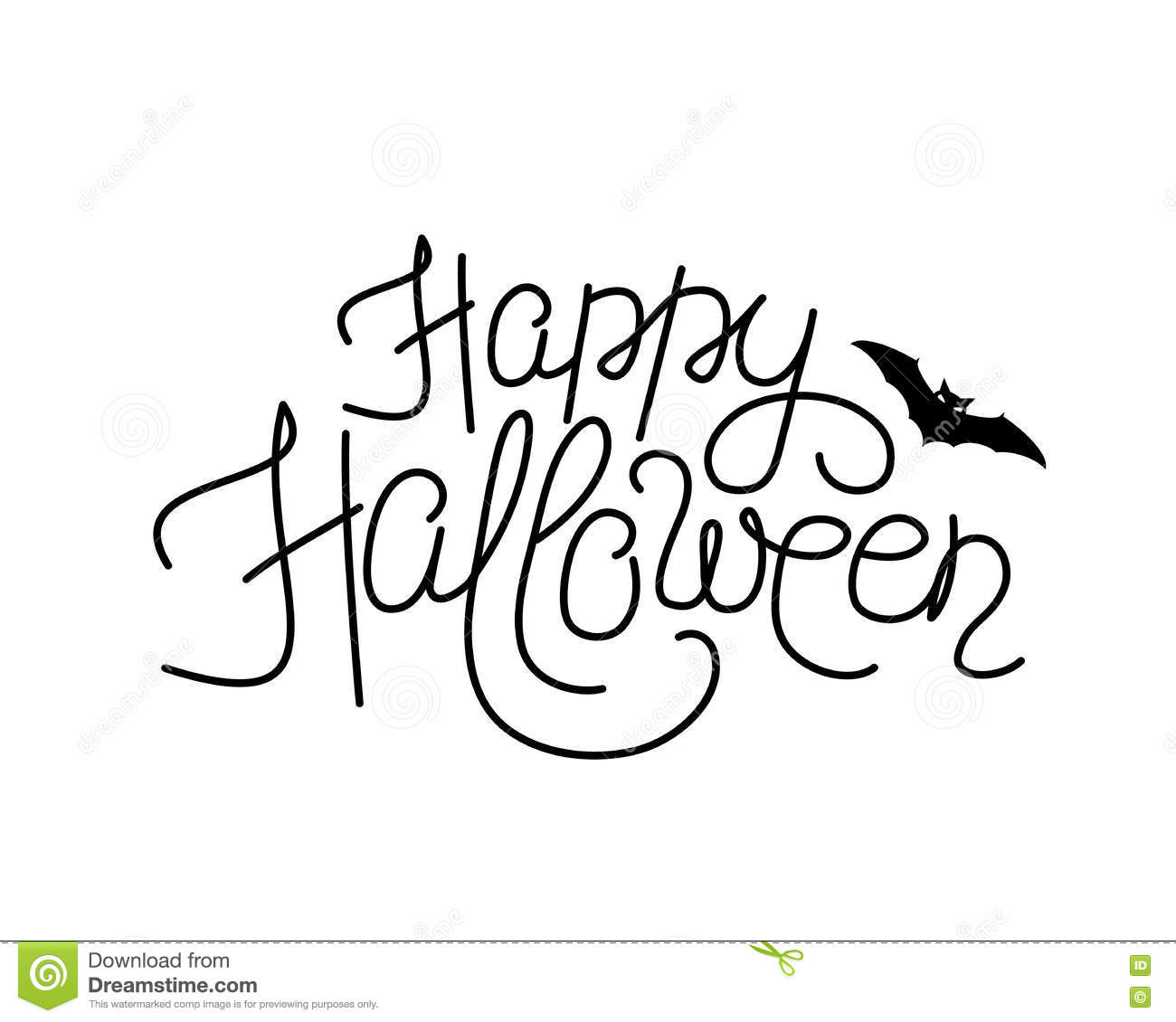 Vector Illustration Of Happy Halloween Lettering Sign