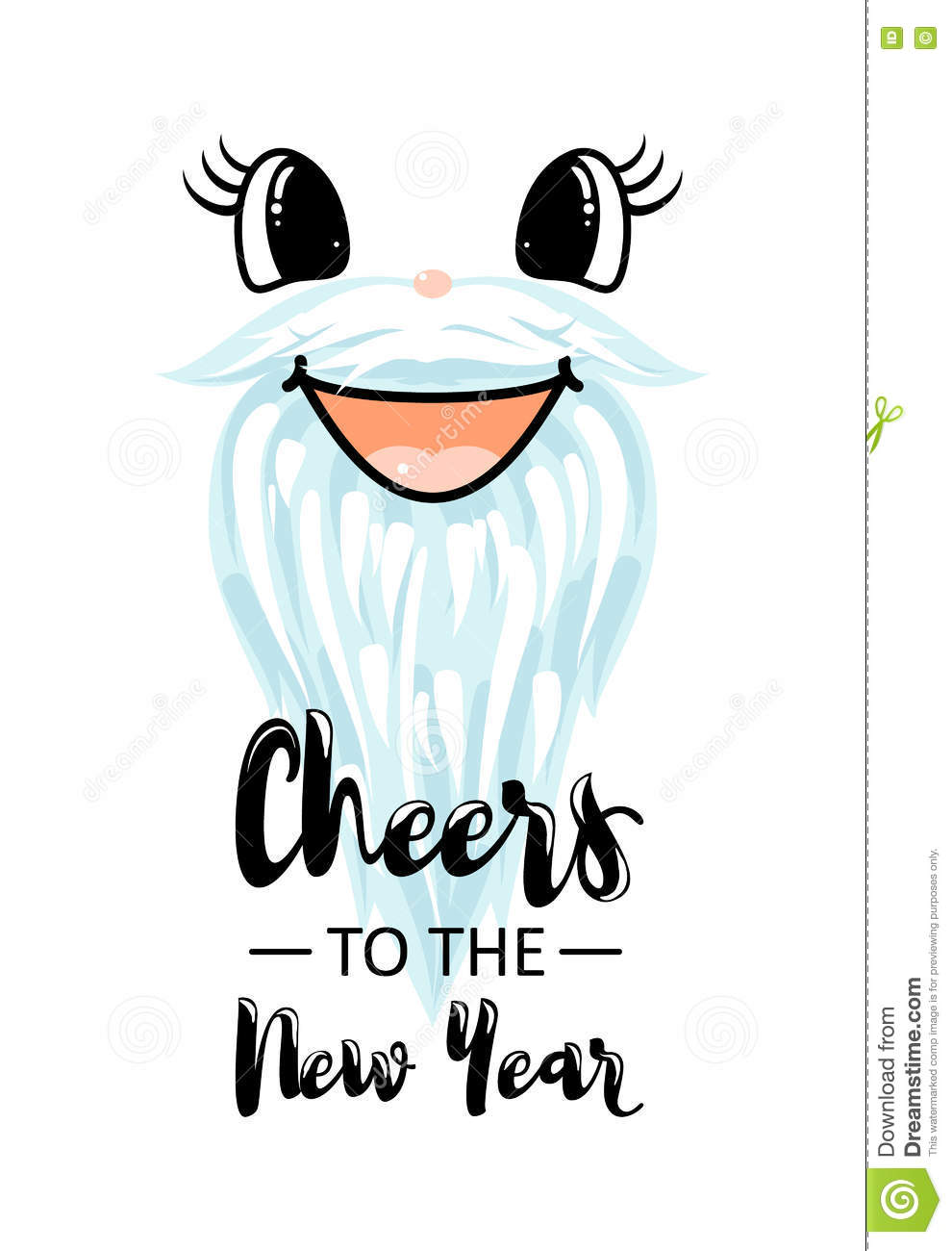 Vector Illustration Of Happy New Year Banner Stock Vector ...