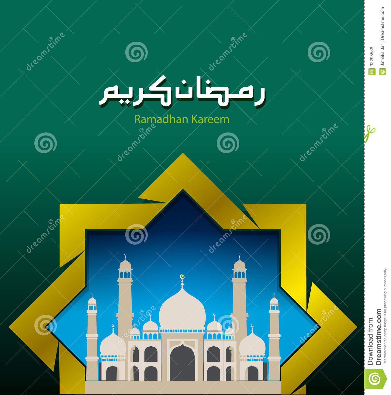 Vector illustration happy ramadan kareem stock vector illustration abstract vector ramadan kareem as a greeting of fasting month full worship for the religion of islam m4hsunfo