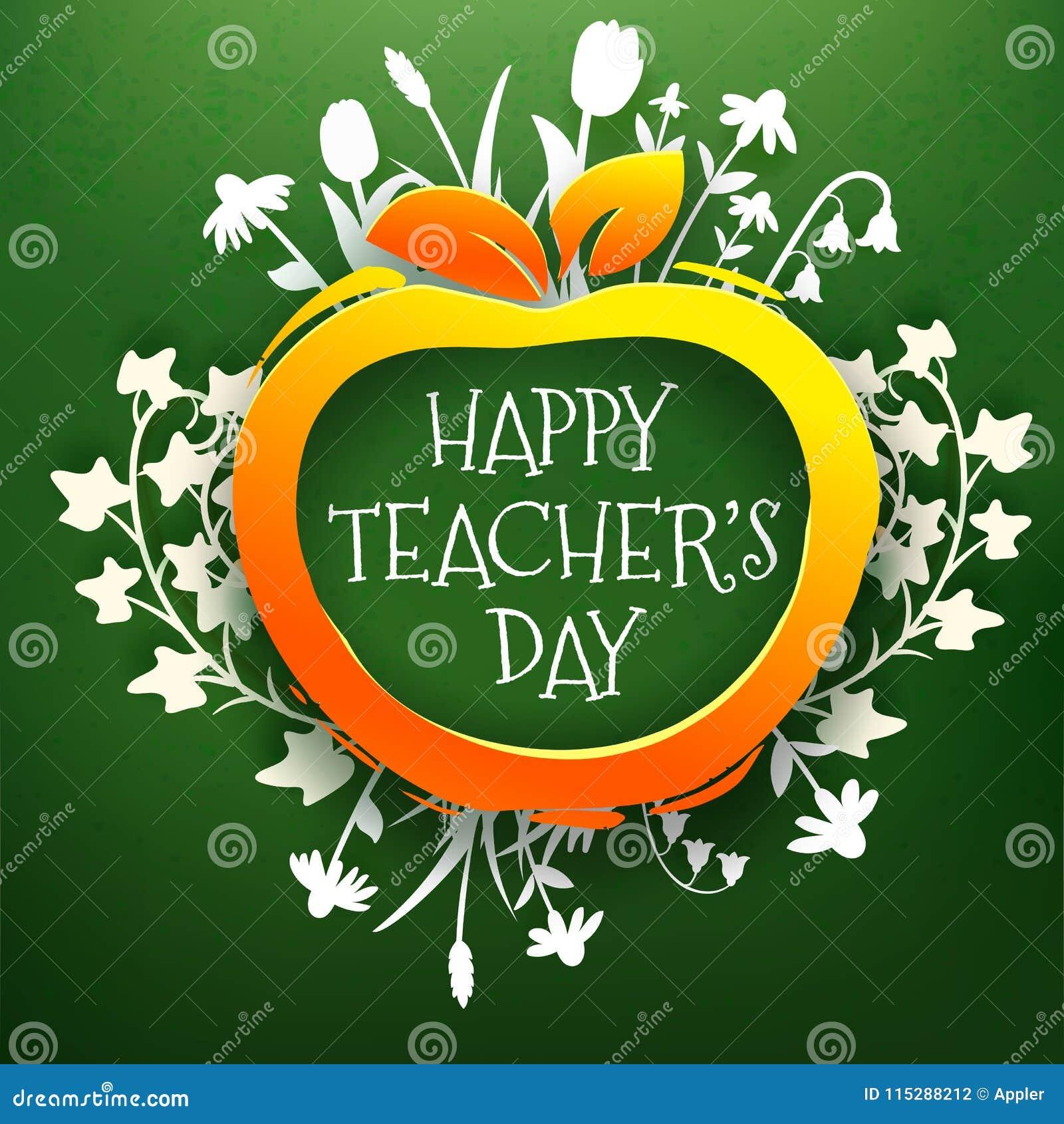 Teachers day greetings card on chalkboard stock vector teachers day greetings card on chalkboard m4hsunfo