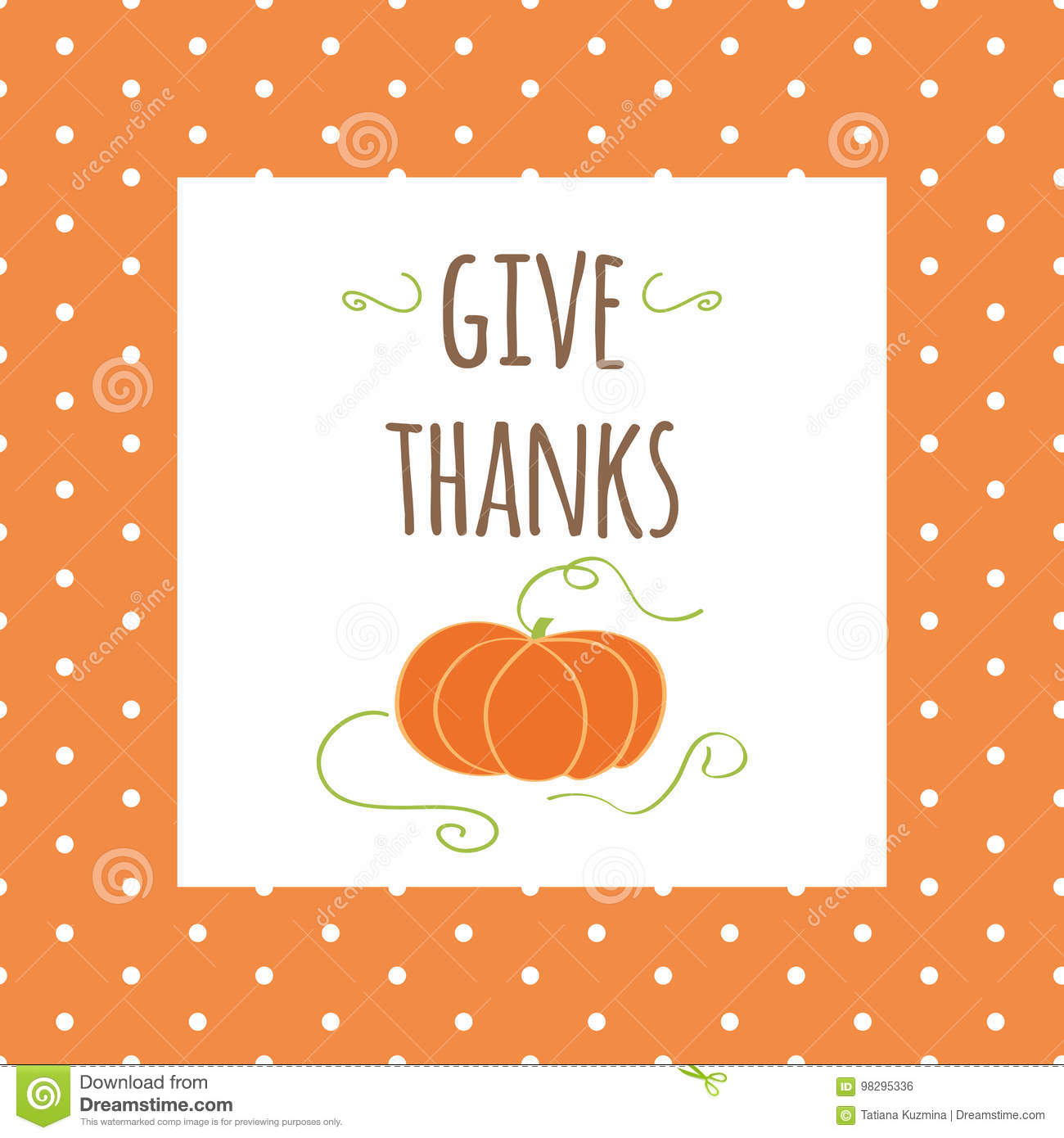 Thanksgiving Greeting Card Give Thanks Fall Colors