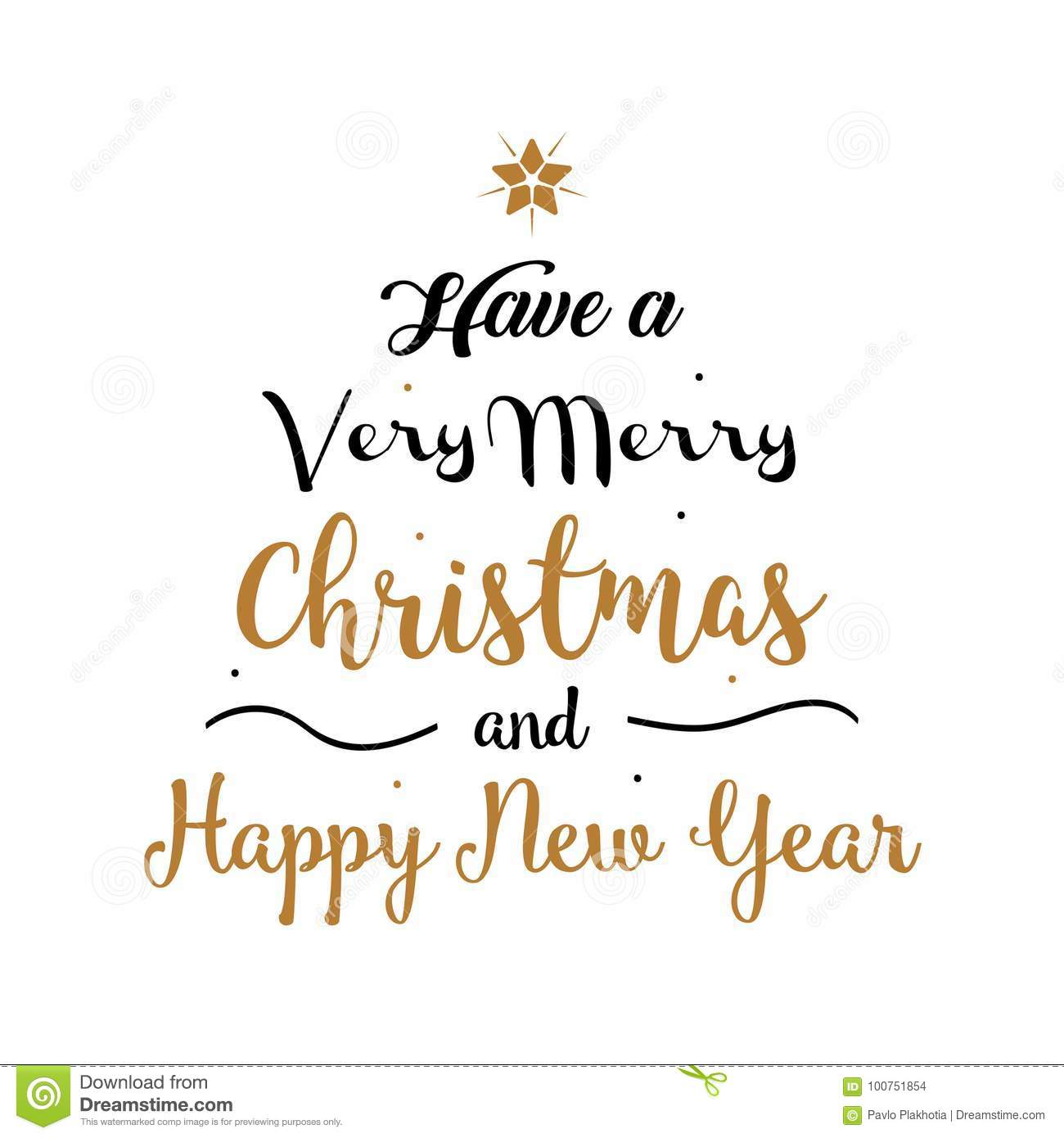 Very Merry Christmas.Vector Illustration Have A Very Merry Christmas And Happy