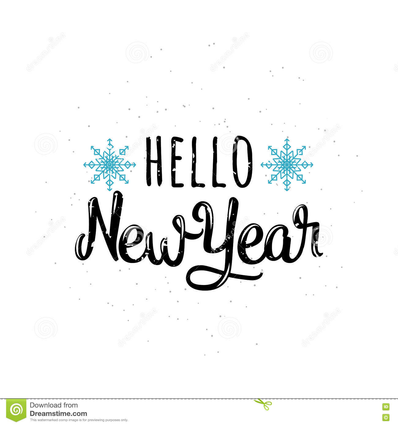 vector illustration of hello new year