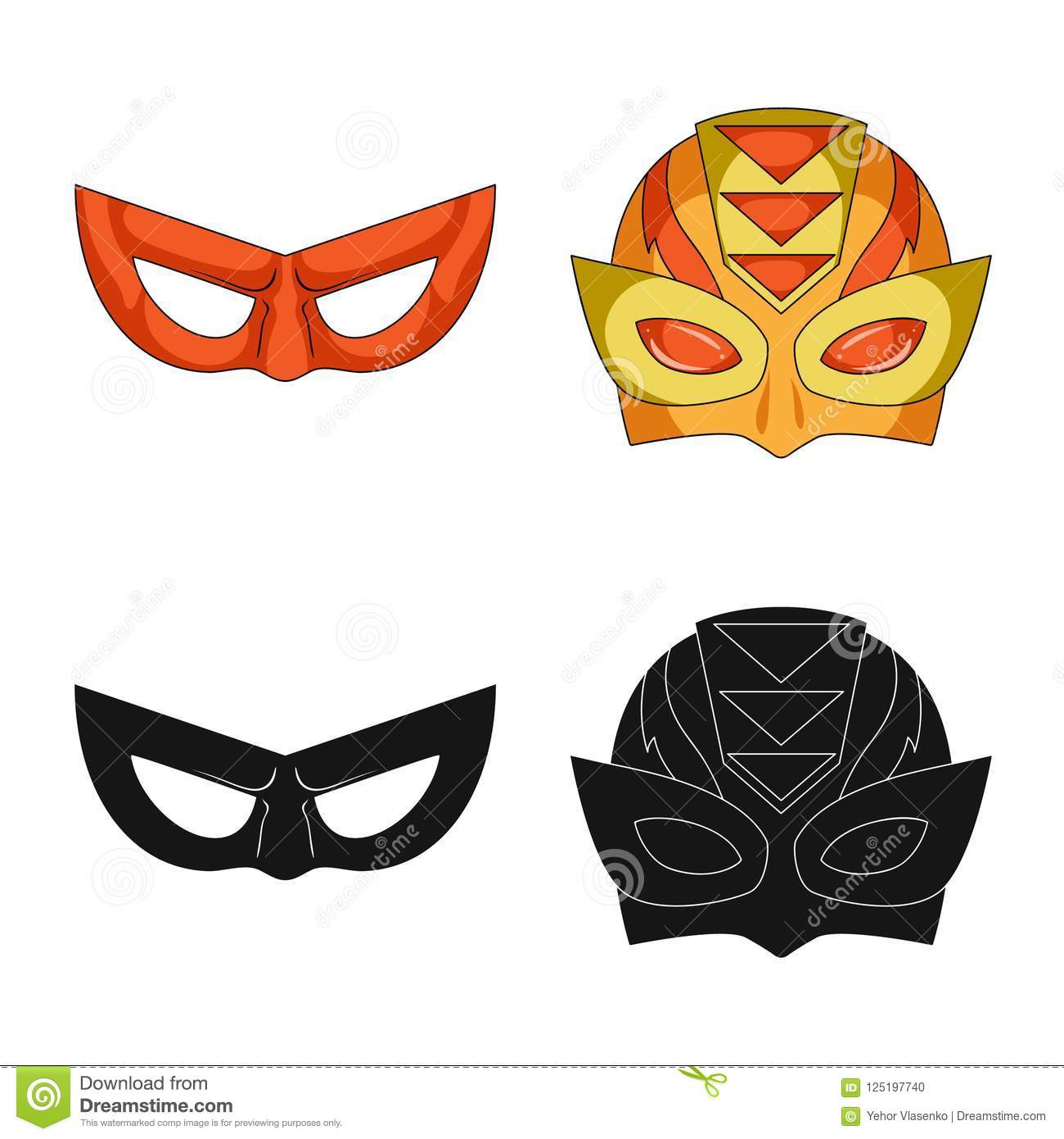 Vector Design Of Hero And Mask Logo Collection Of Hero And