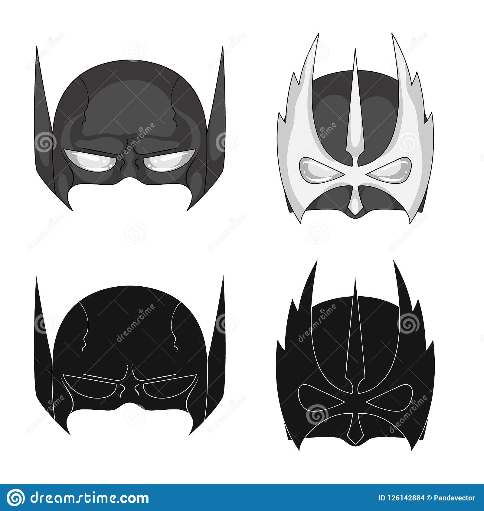 Vector Design Of Hero And Mask Symbol Collection Of Hero And