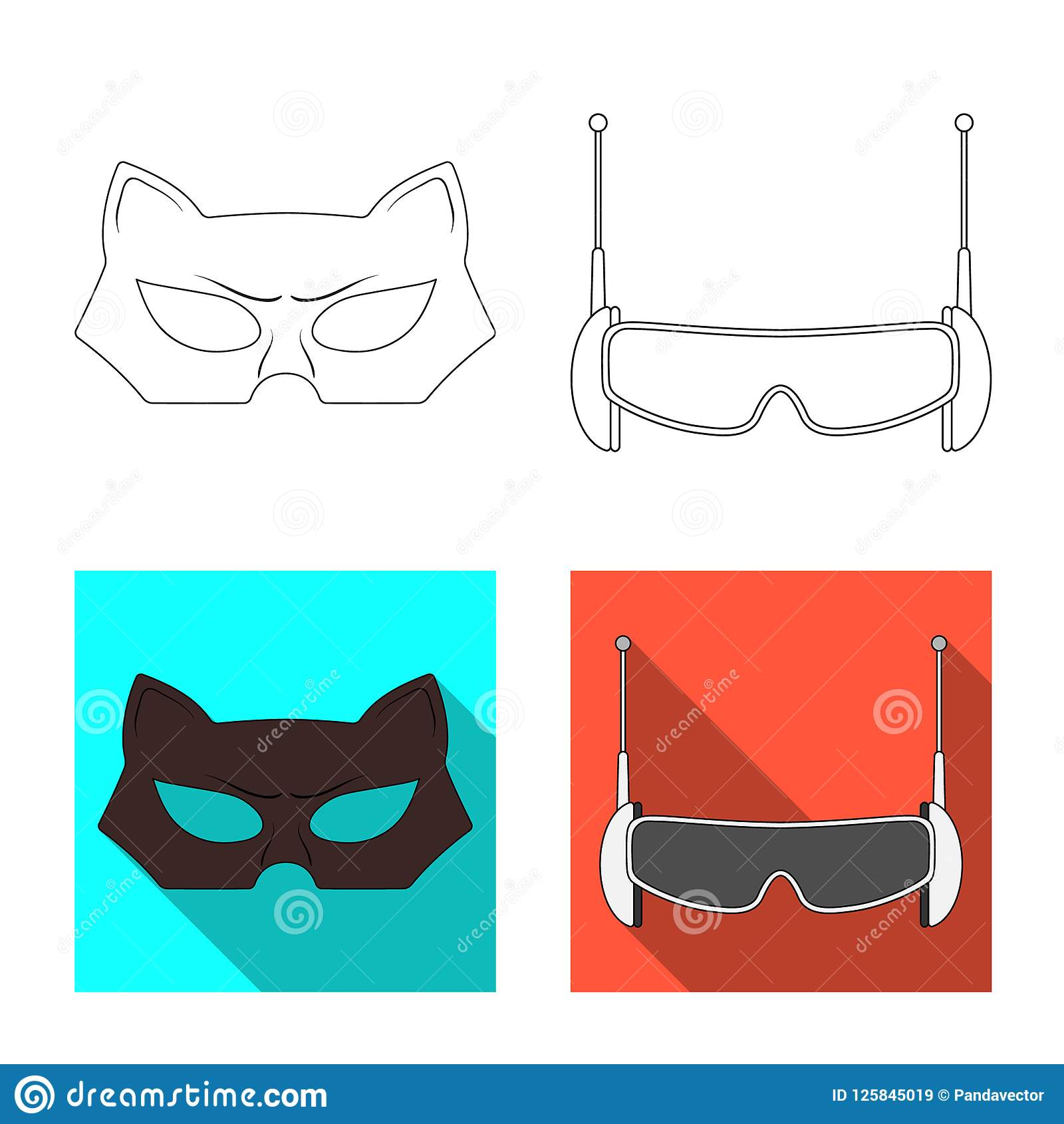 Vector Design Of Hero And Mask Icon Collection Of Hero And