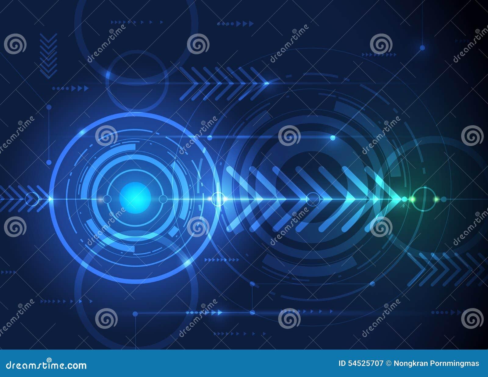 Circuit Board Design Over Green Background Vector Illustration