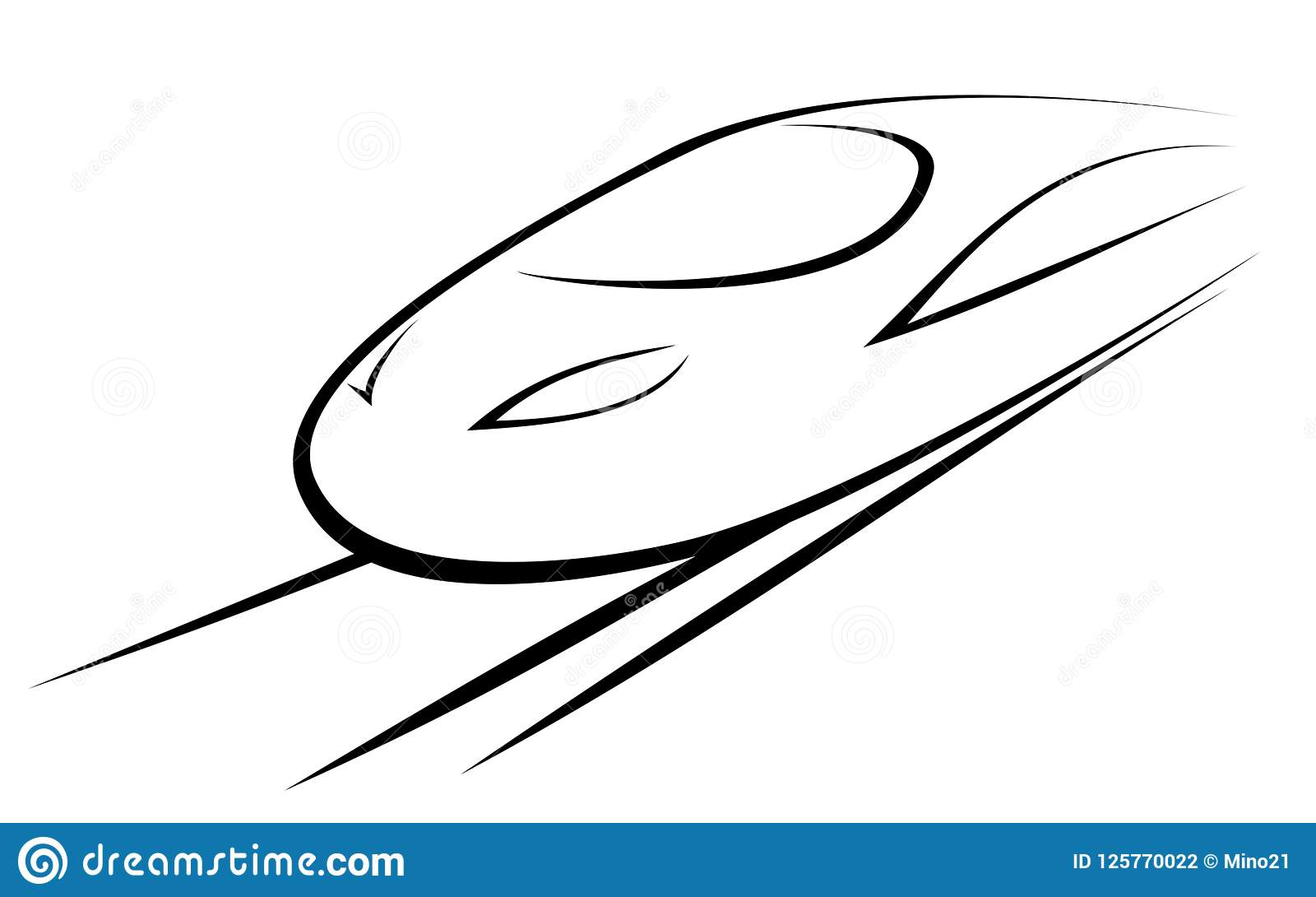 Vector Illustration Of A High-speed Train Stock Vector