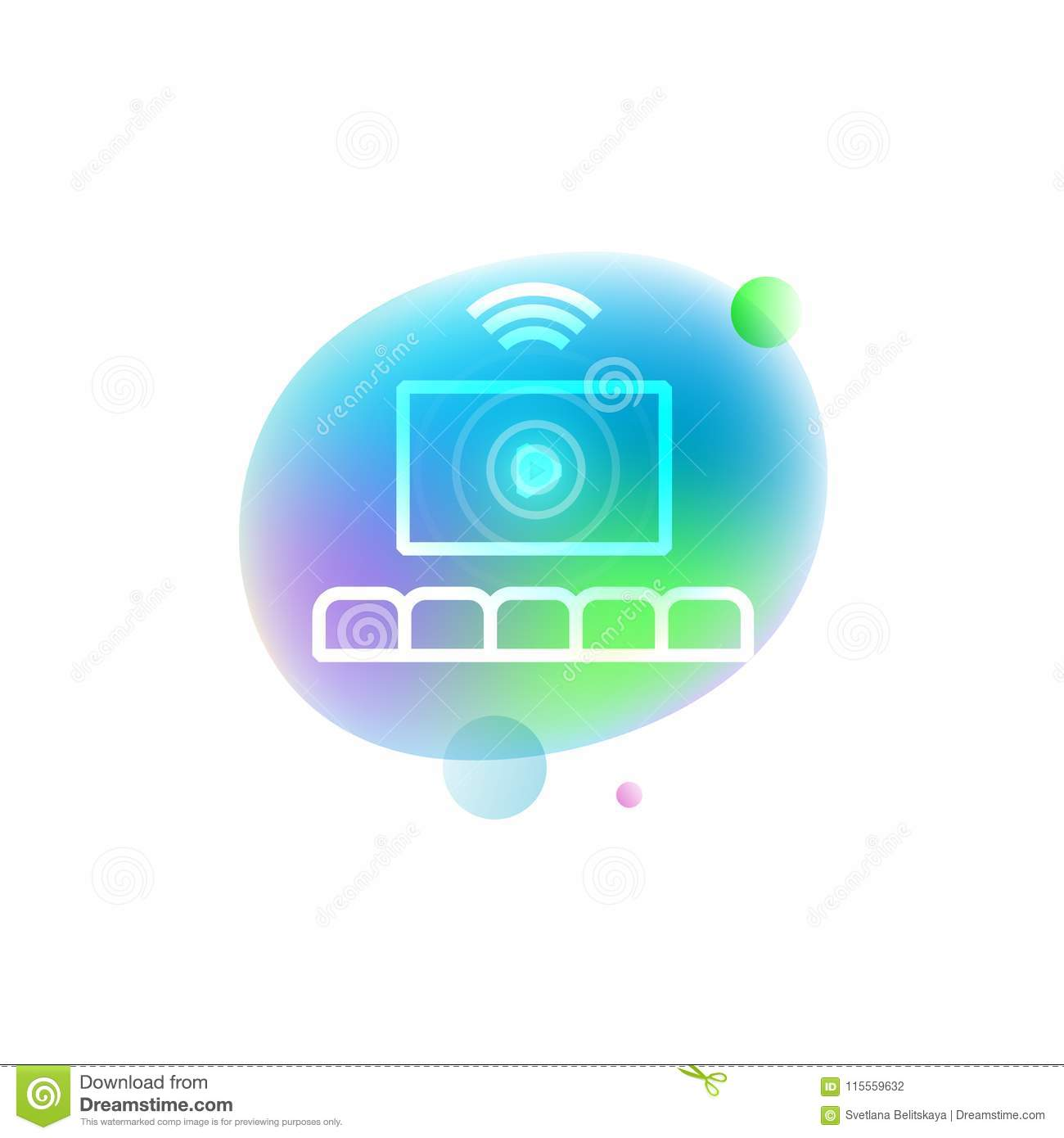 Home theater icon stock vector. Illustration of conceptual - 115559632