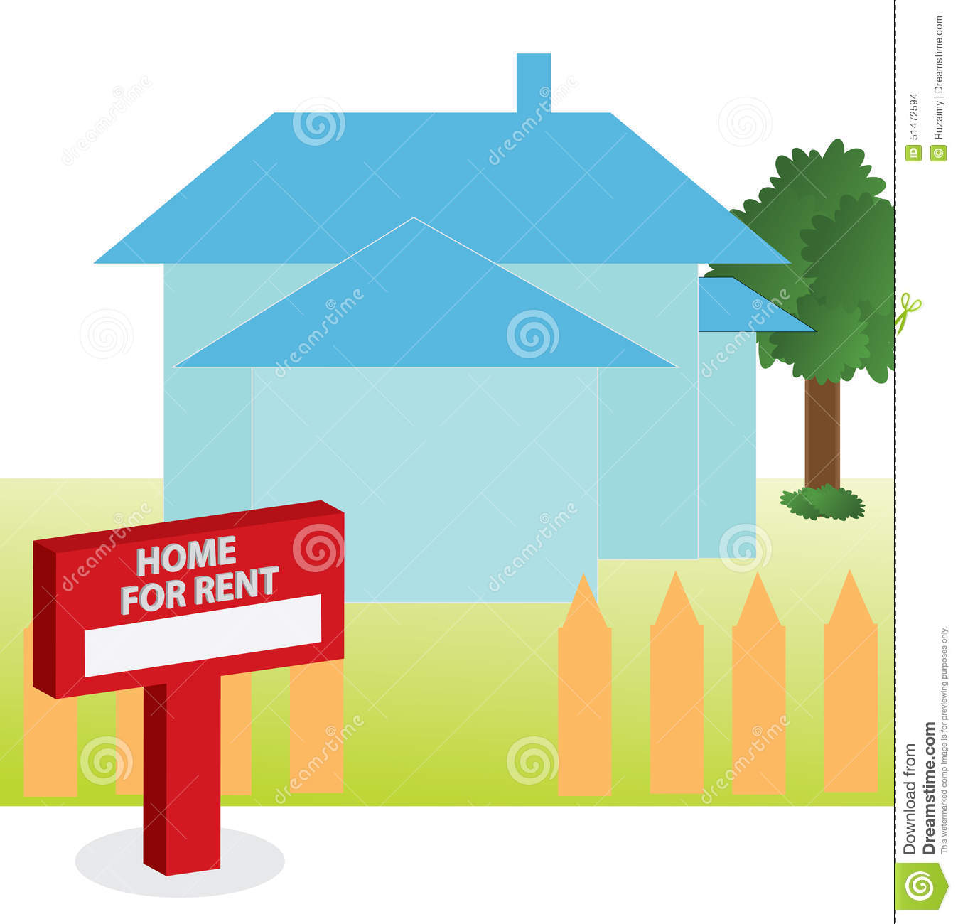 Vector Illustration Of House For Rent Stock Illustration