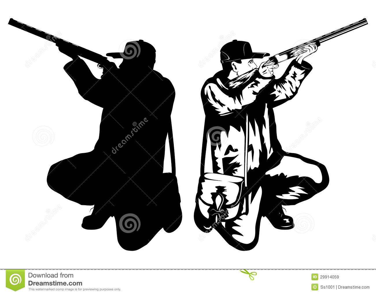 Bow Hunter Silhouette Clipart | Info