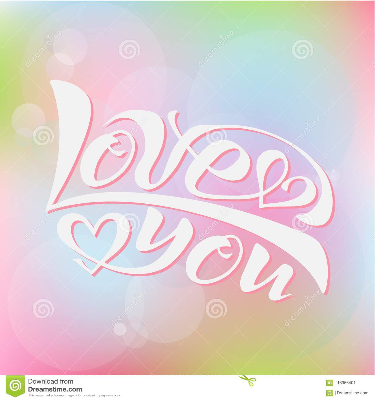 Vector Illustration Of I Love You Stock Vector - Illustration of ...